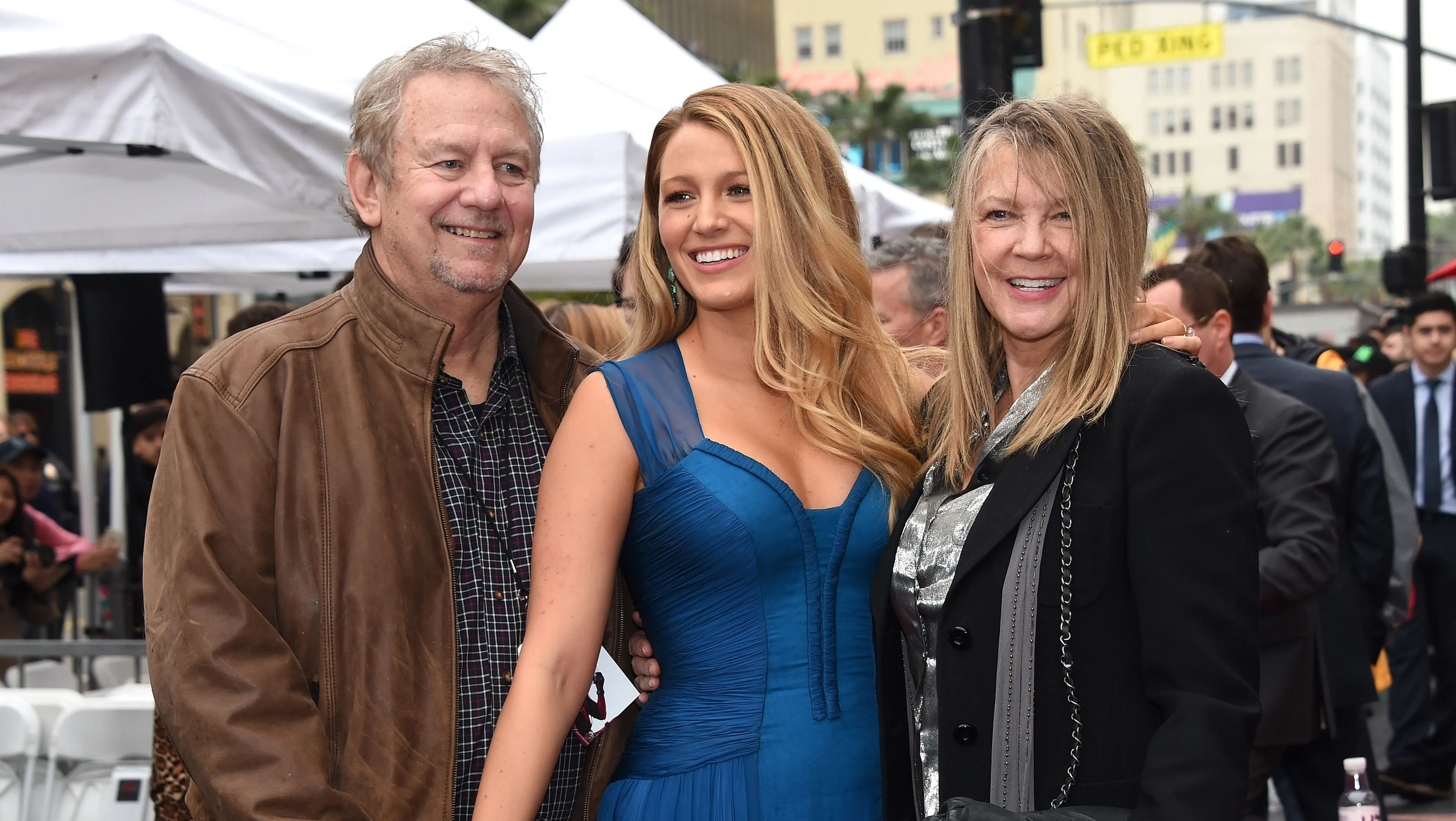 Blake Lively with her parents Ernie & Elaine at the Hollywood Walk Of Fame