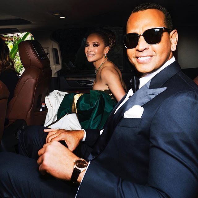 Jennifer Lopez and Alex Rodriguez at an event