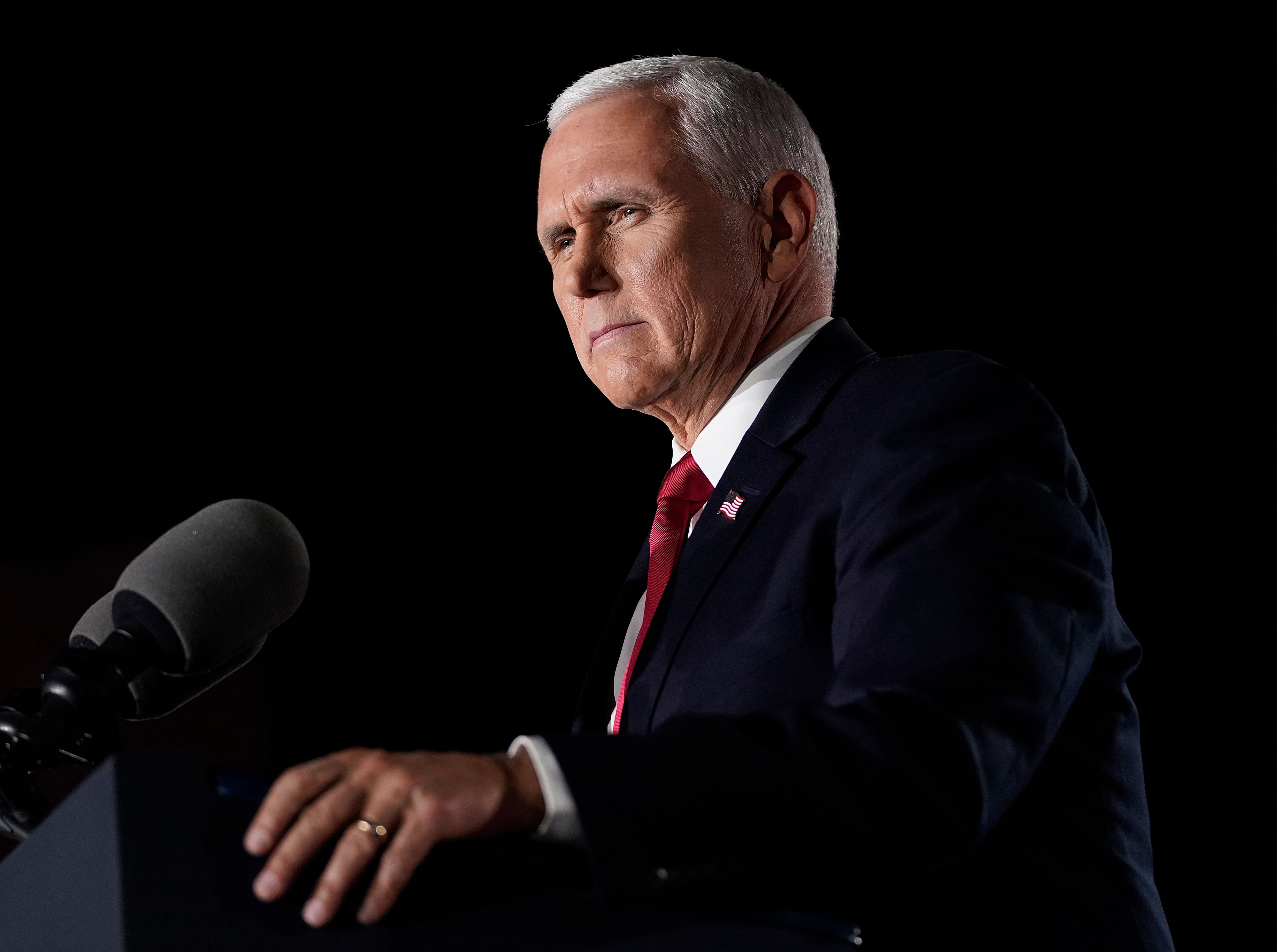 Mike Pence speaks at an event.