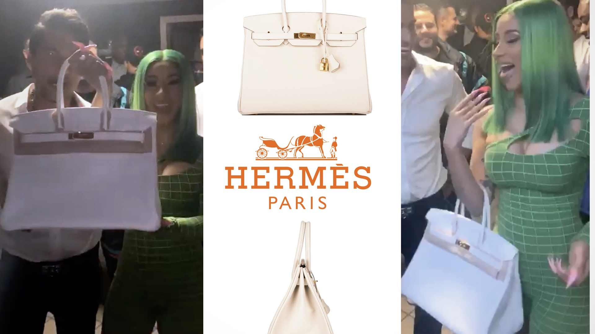 Cardi B Super Fan Gifts Singer 20k Birkin Bag For Showing Up To