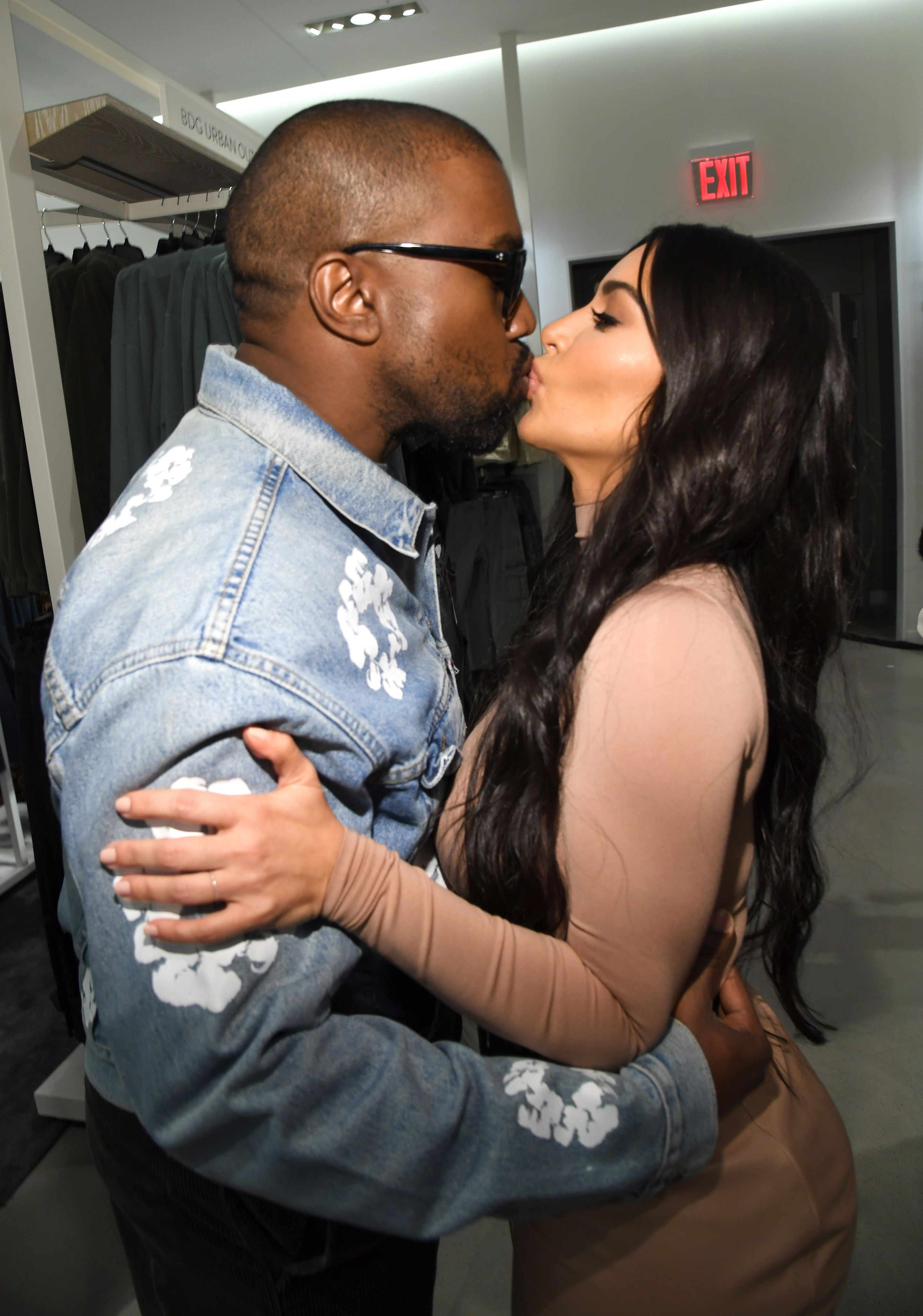 """Kanye West busted pulling a """"rude move"""" during makeout sesh with wife Kim Kardashian"""
