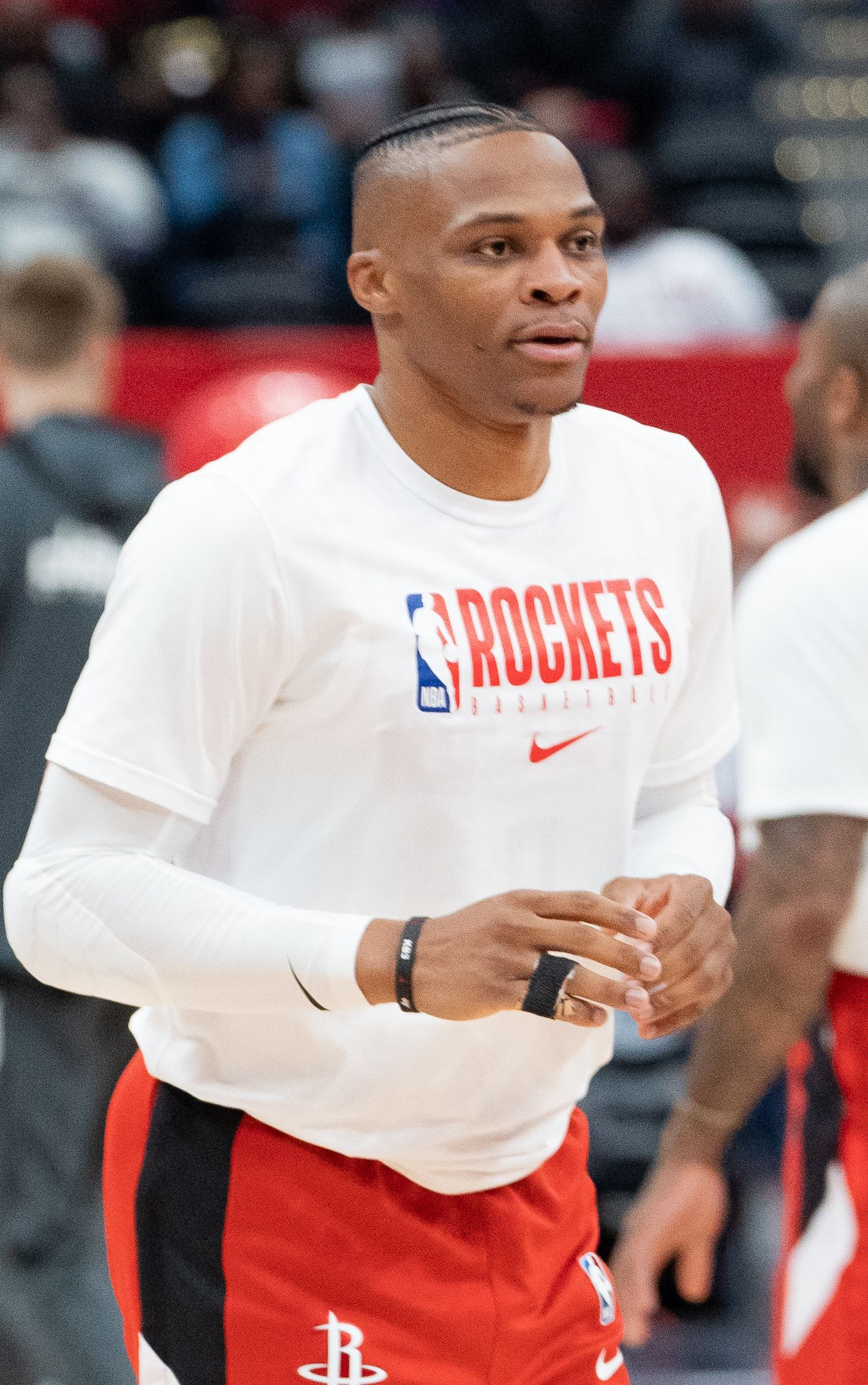Russell Westbrook waiting for the ball