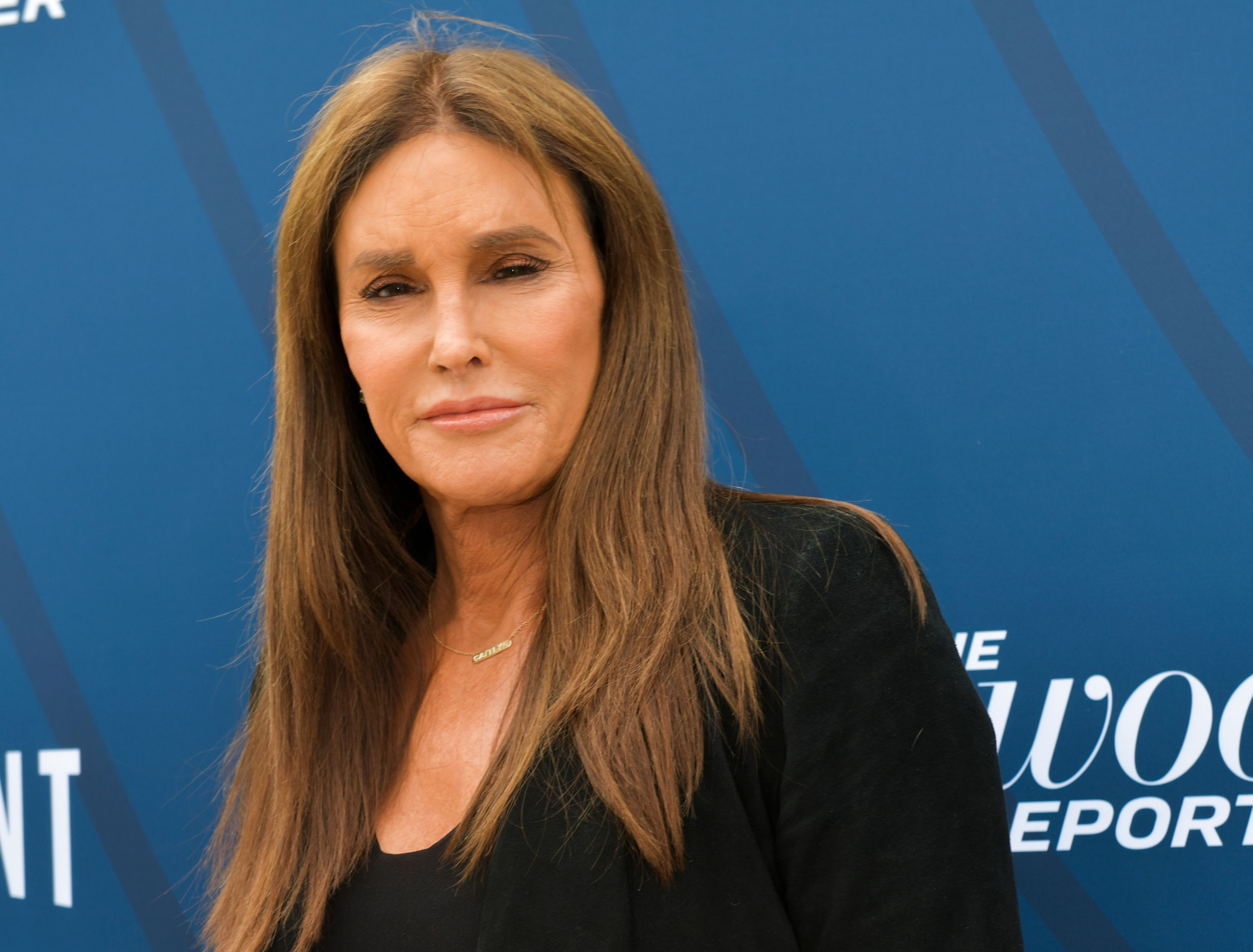 Caitlyn Jenner poses for photographers