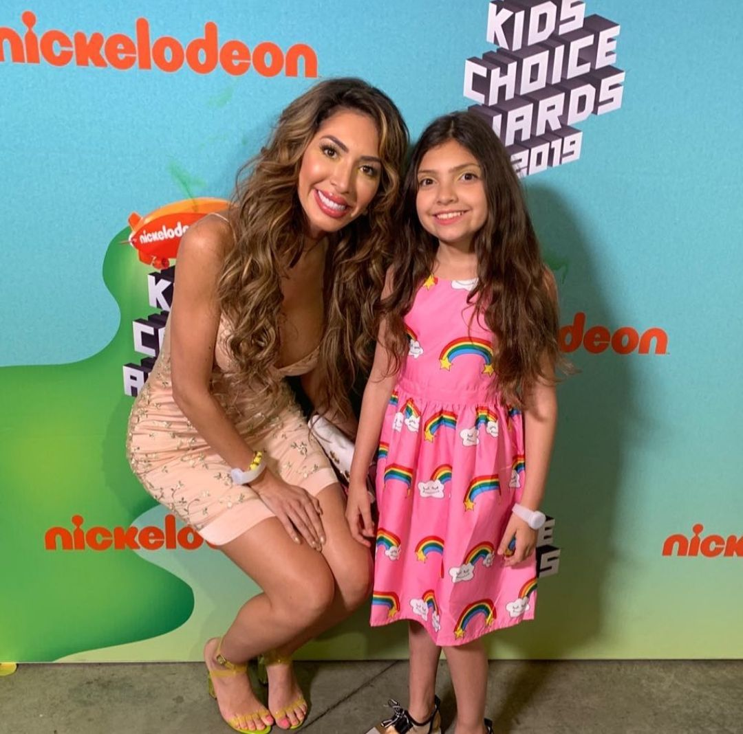 Farrah Abraham looks amazing with daughter at an event and they look super excited.