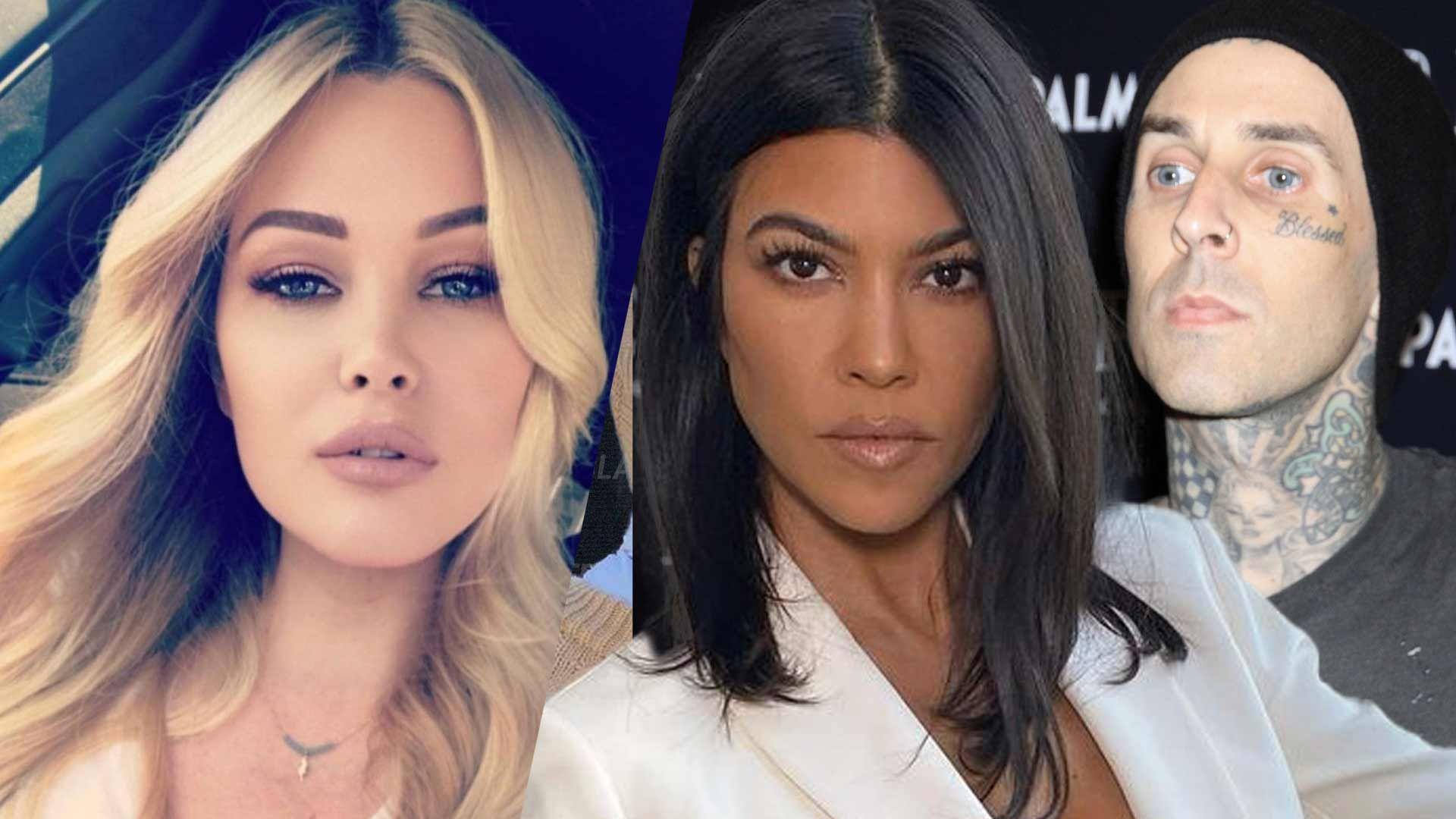 Shanna Moakler, Kourtney Kardashian, and Travis Barker.