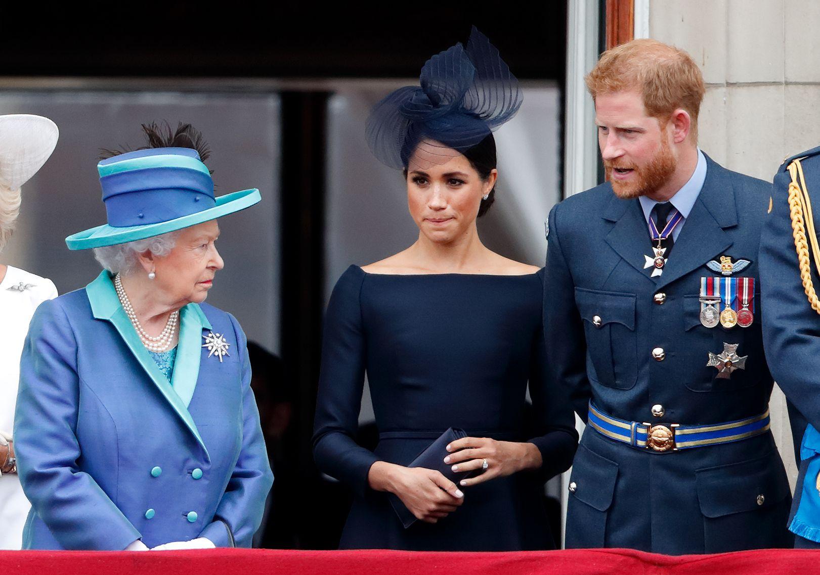 Queen Elizabeth II, Meghan Markle, Prince Harry