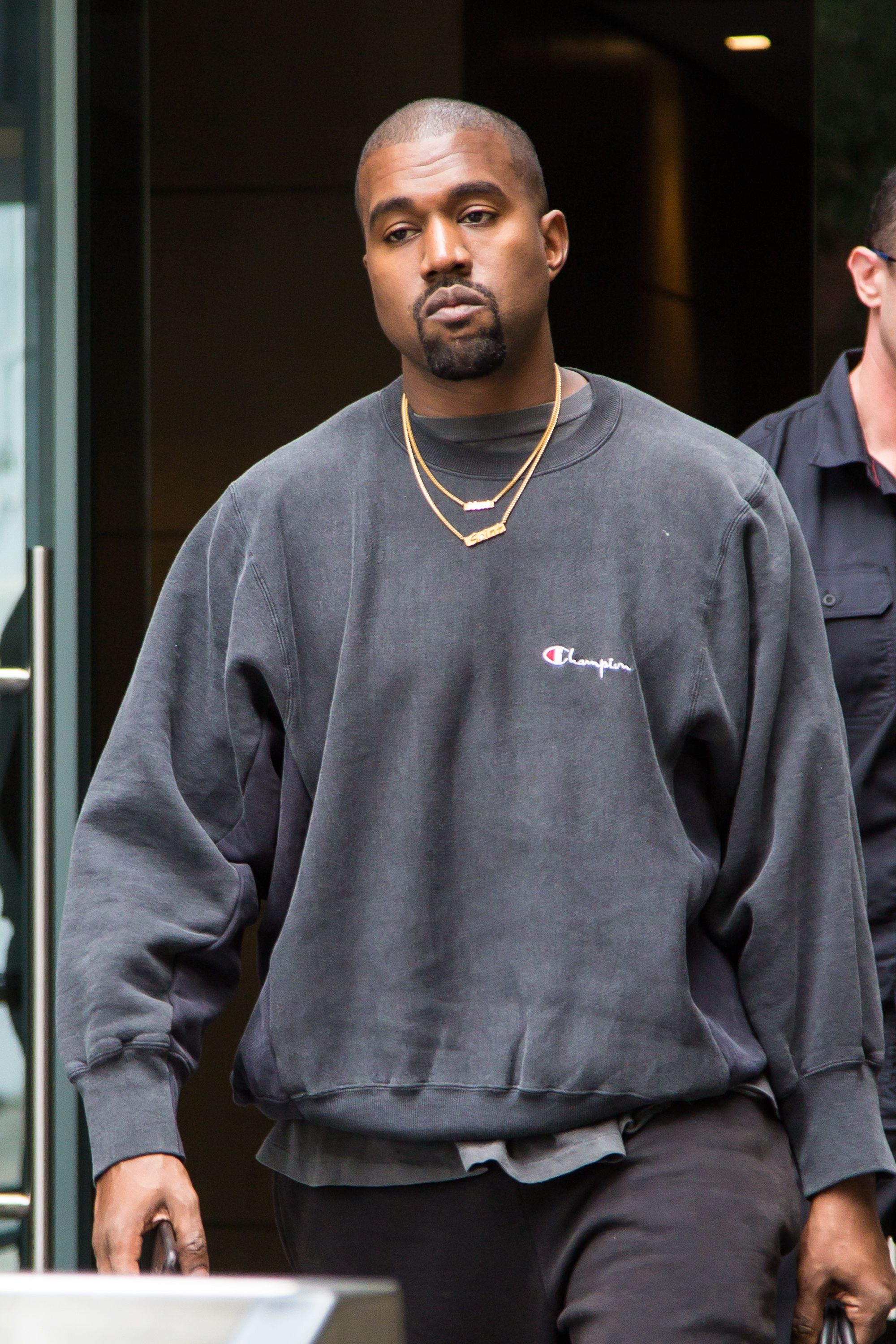 Kanye West in the street