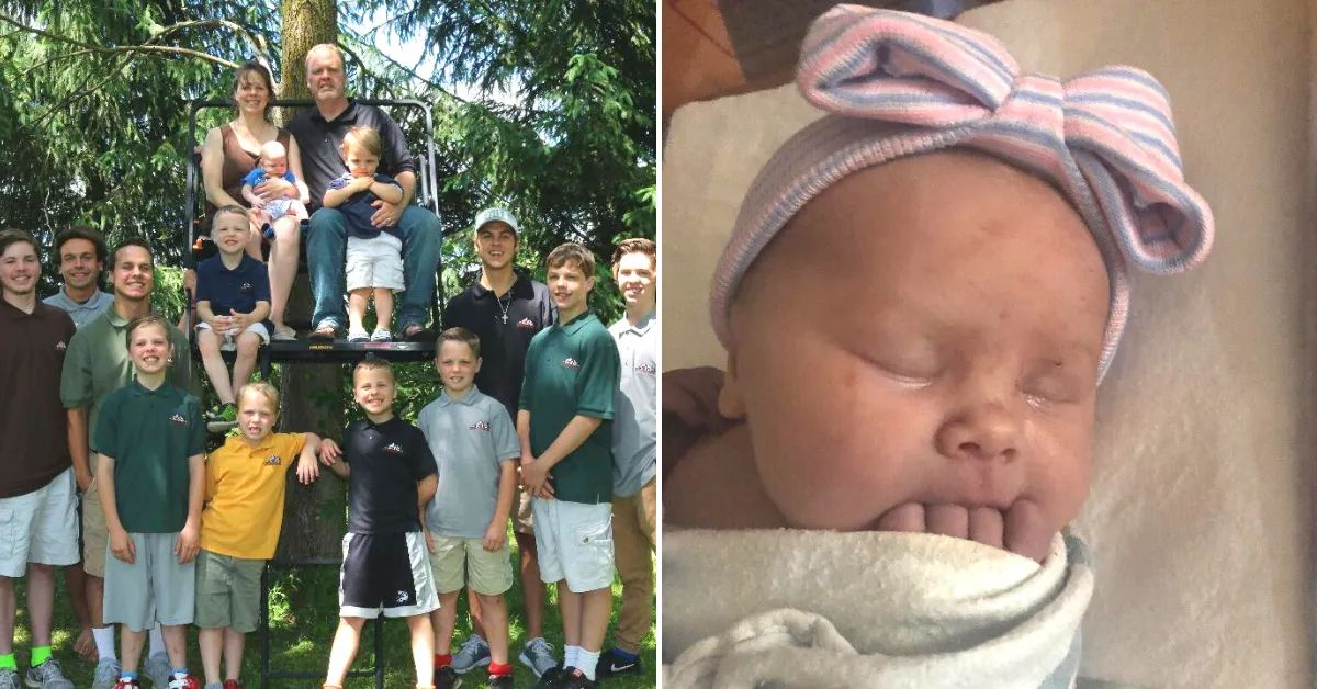 Family With 14 Boys Finally Welcomes A Baby Girl
