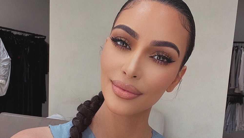 Kim Kardashian close up and smiling