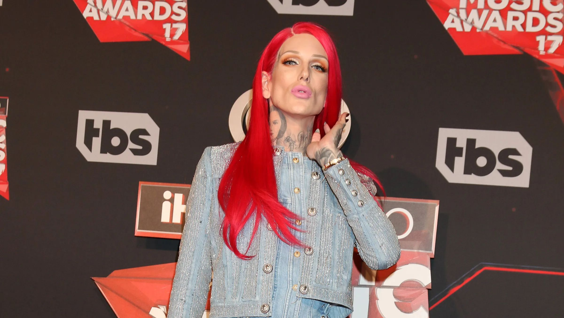 Jeffree Star with red hair