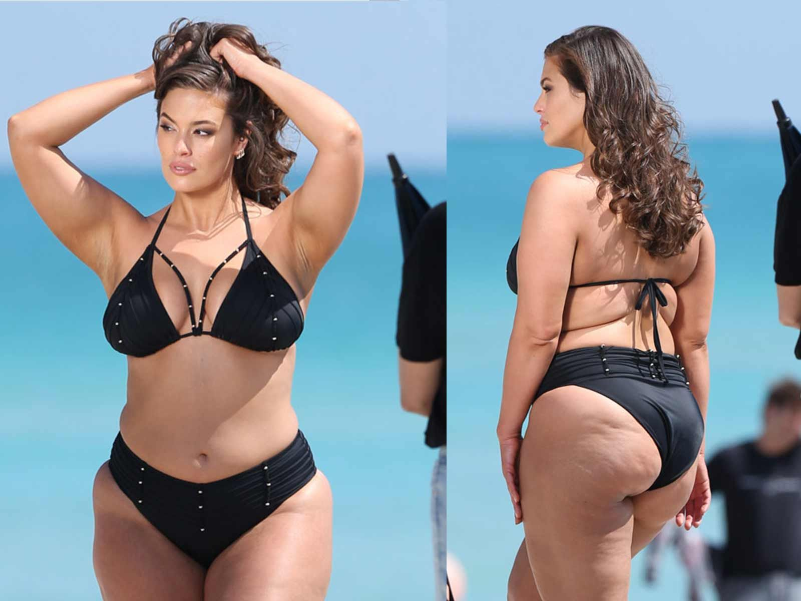 Beach Sexx ashley graham oozes sex appeal in tiny bikini at beach photo