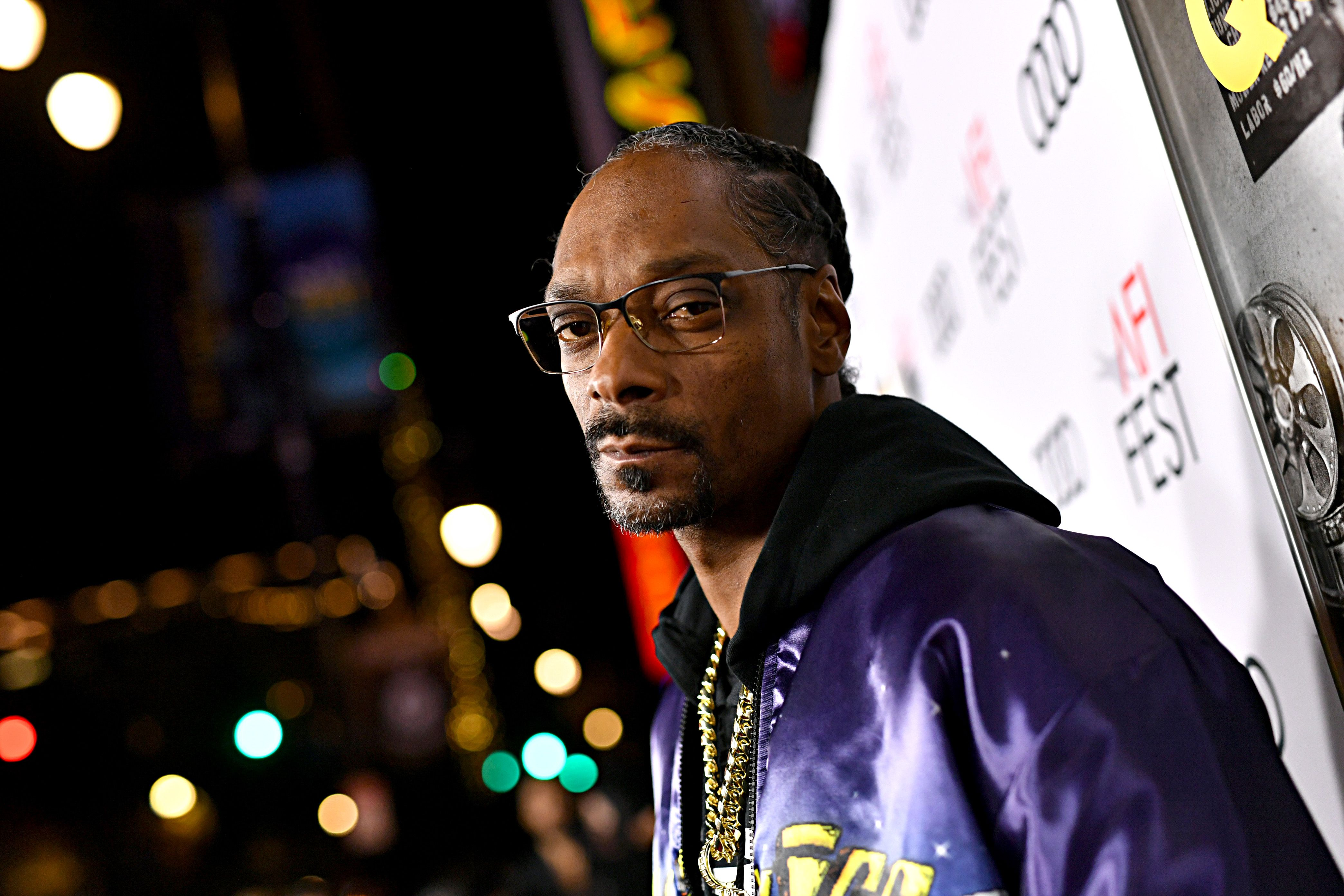 Snoop Dogg posing for the camera.