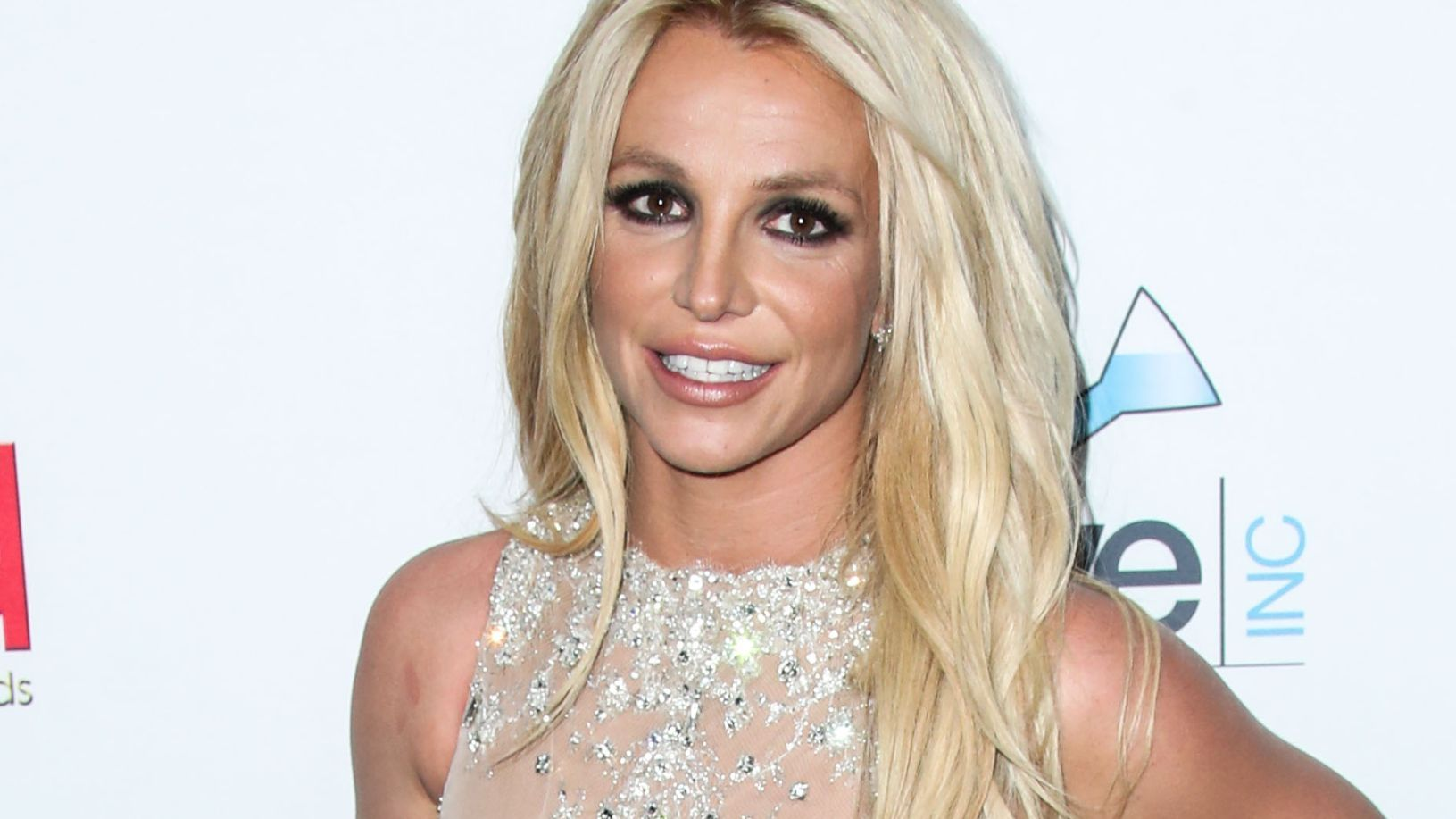 Britney Spears in silver gown