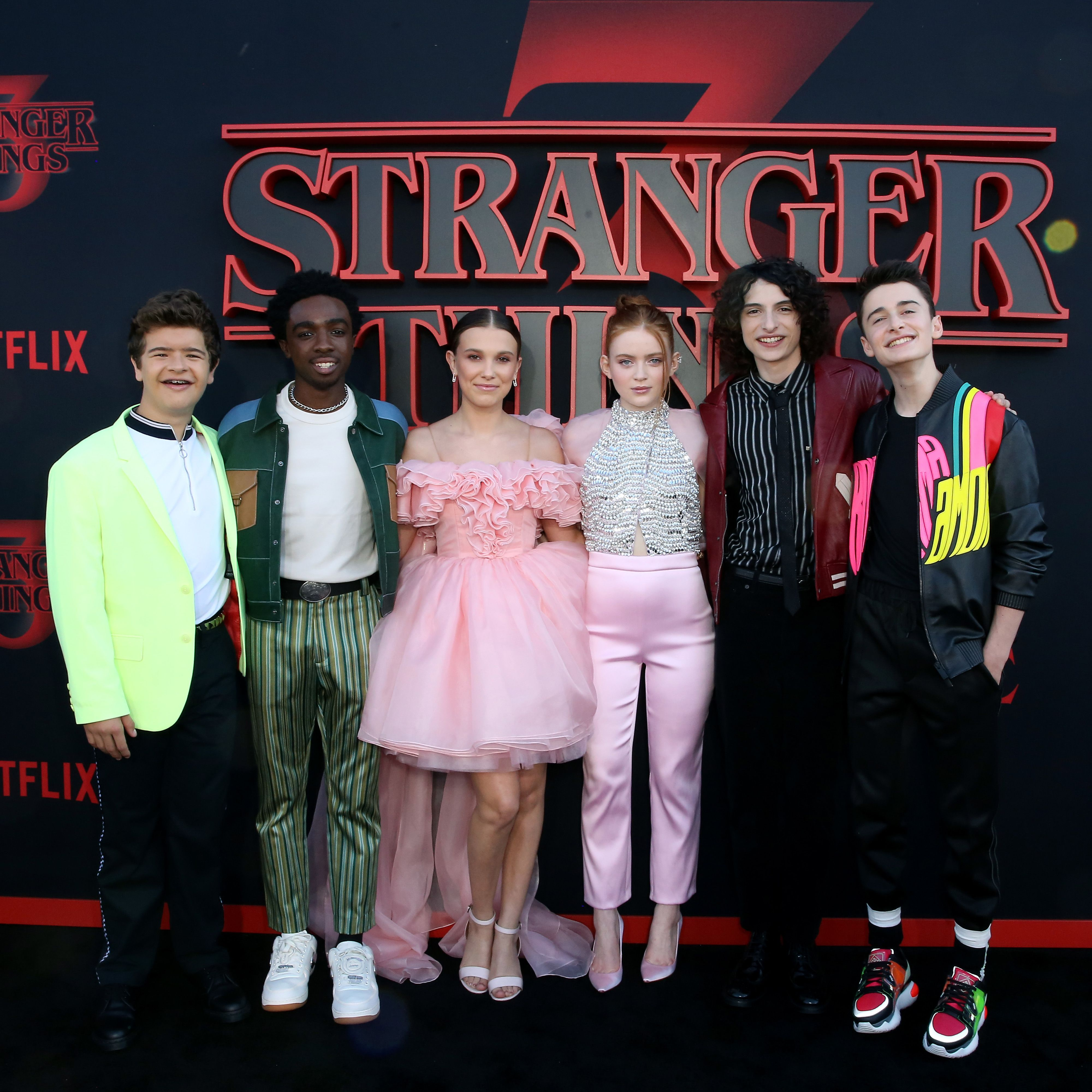 The main cast of Stranger Things at the Season 3 premiere