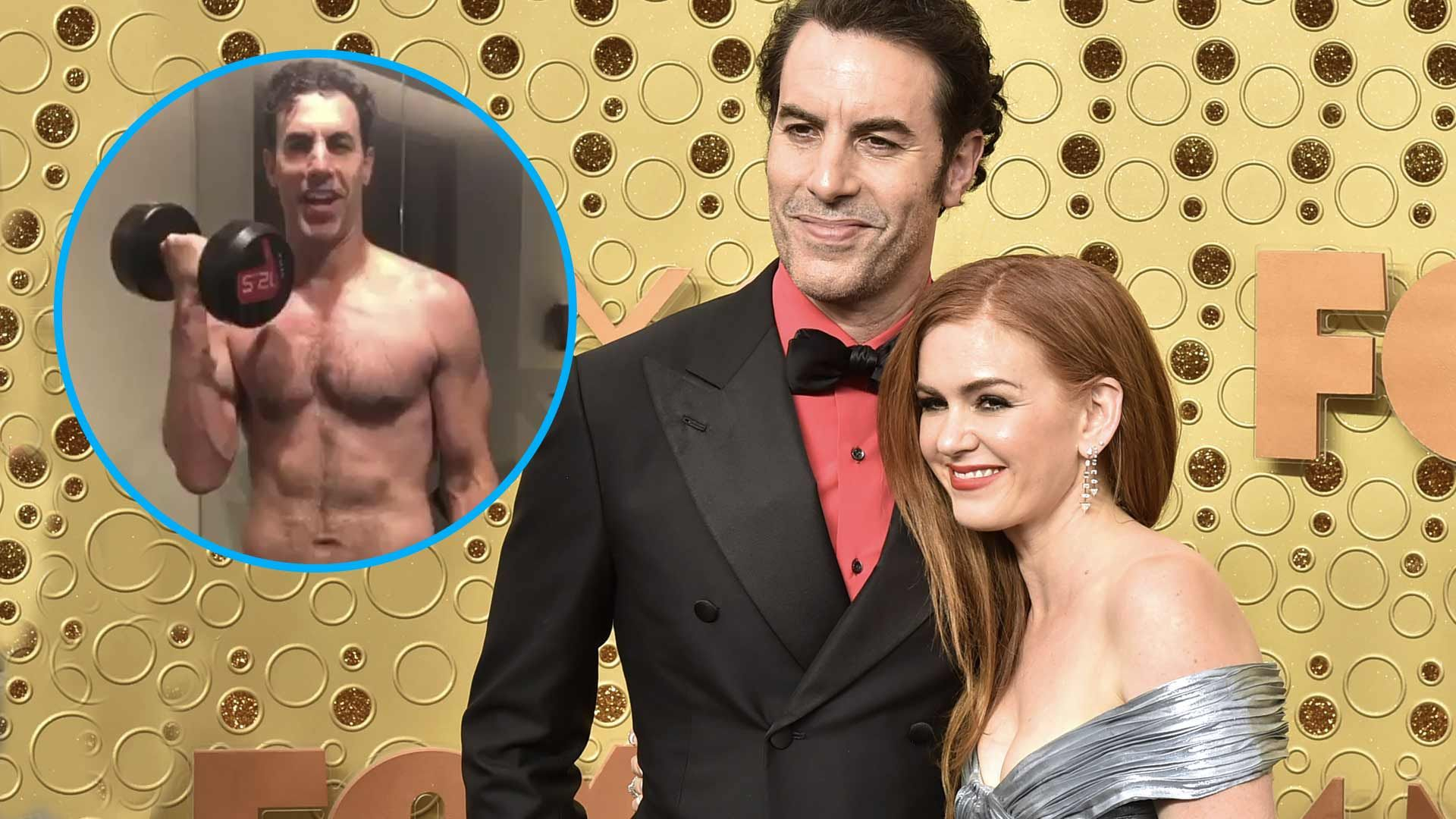 Isla Fisher Shows Off Husband Sacha Baron Cohens Sexy