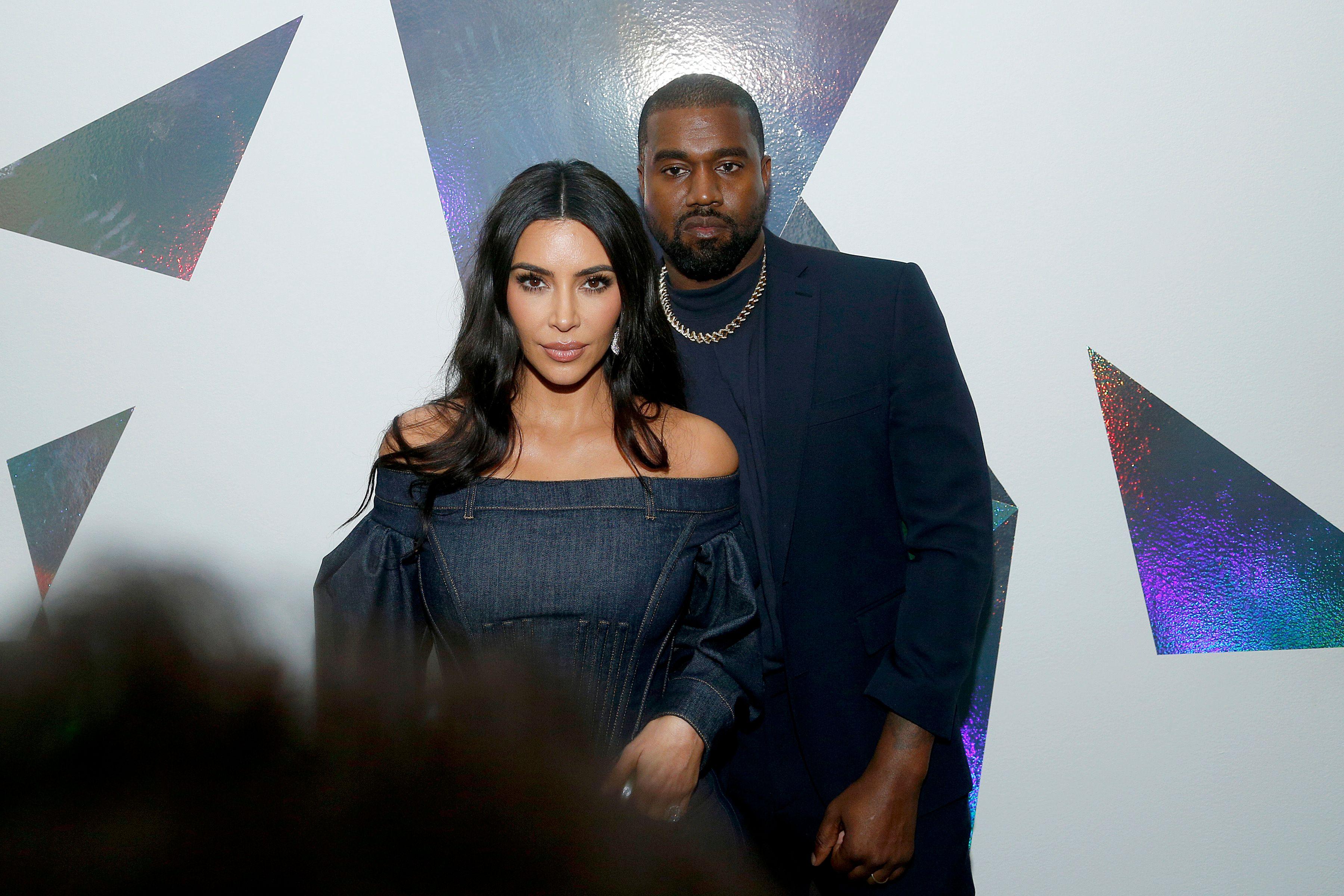 Kim Kardashian and her rapper husband, Kanye West