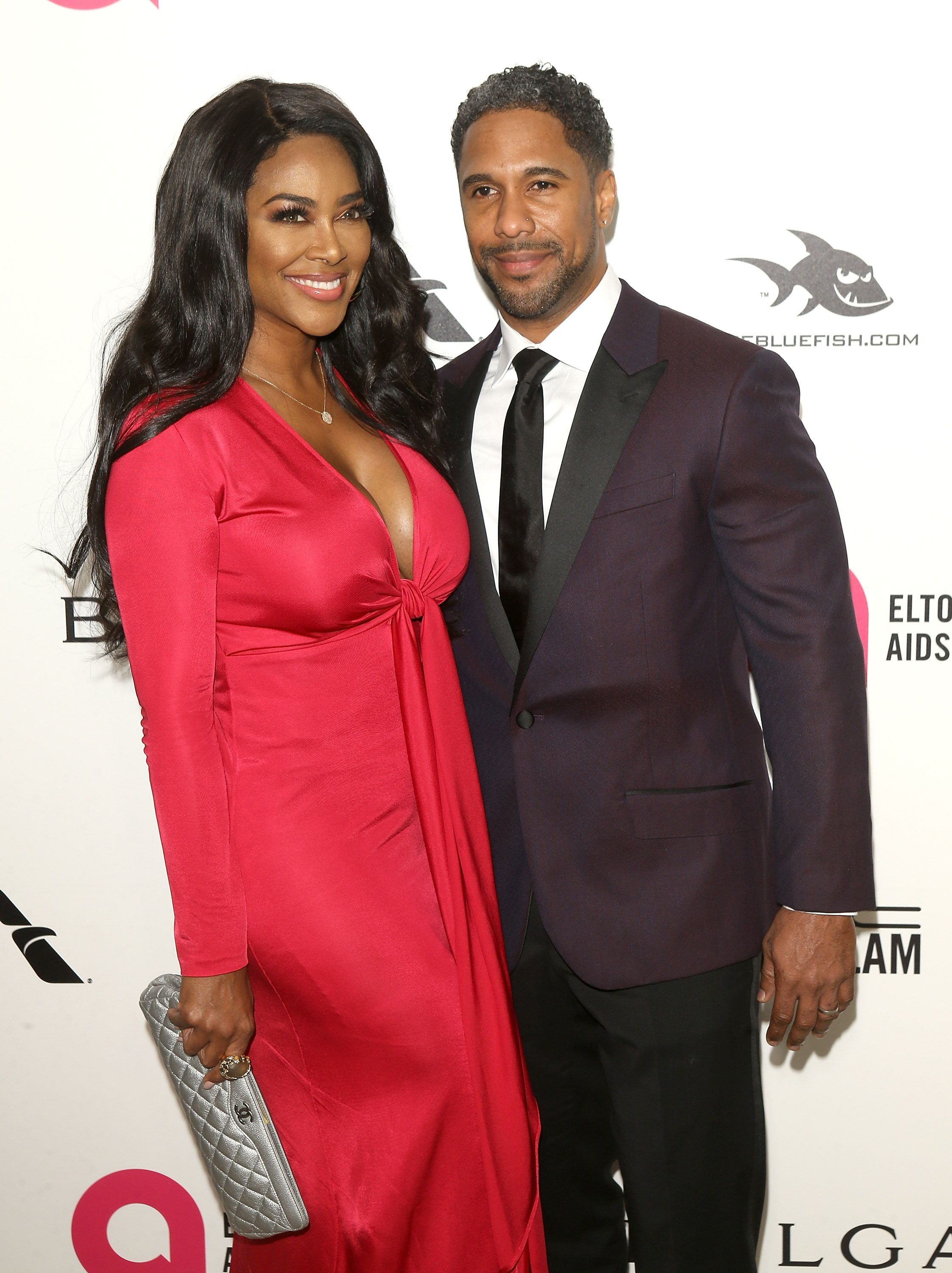 Kenya Moore and Marc Daly smiling