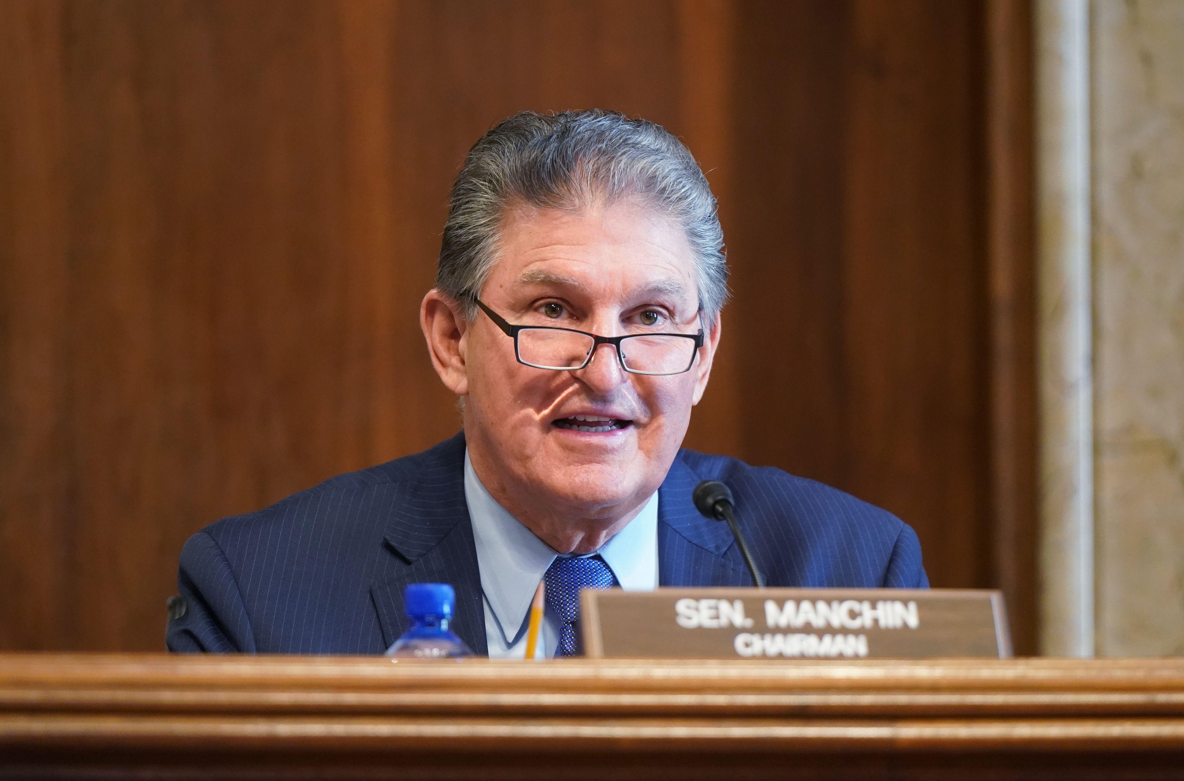Joe Manchin speaks before the U.S. Senate.