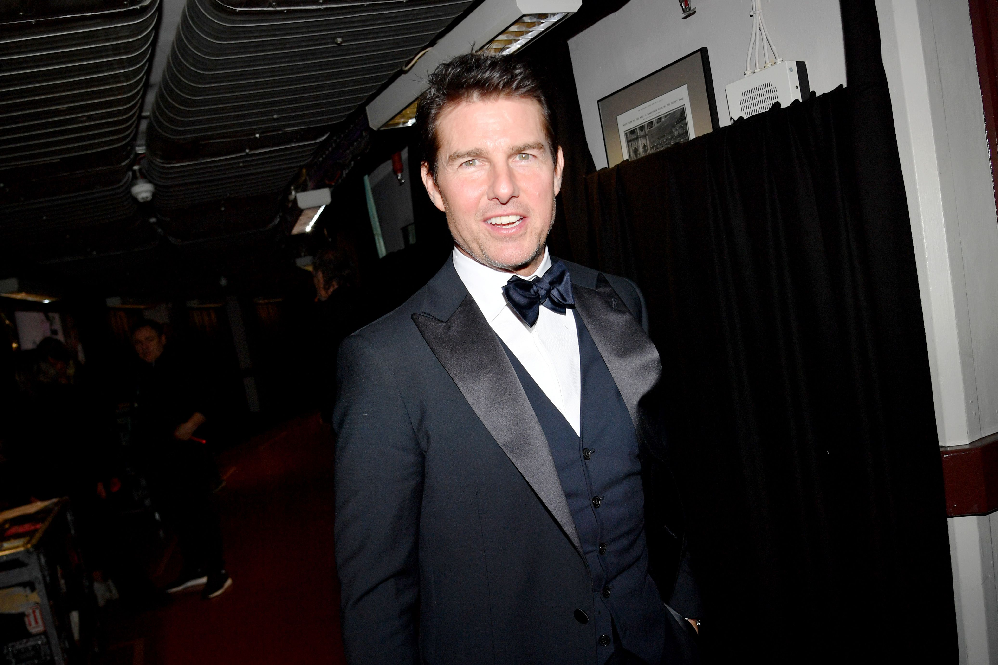 Tom Cruise at a movie premiere