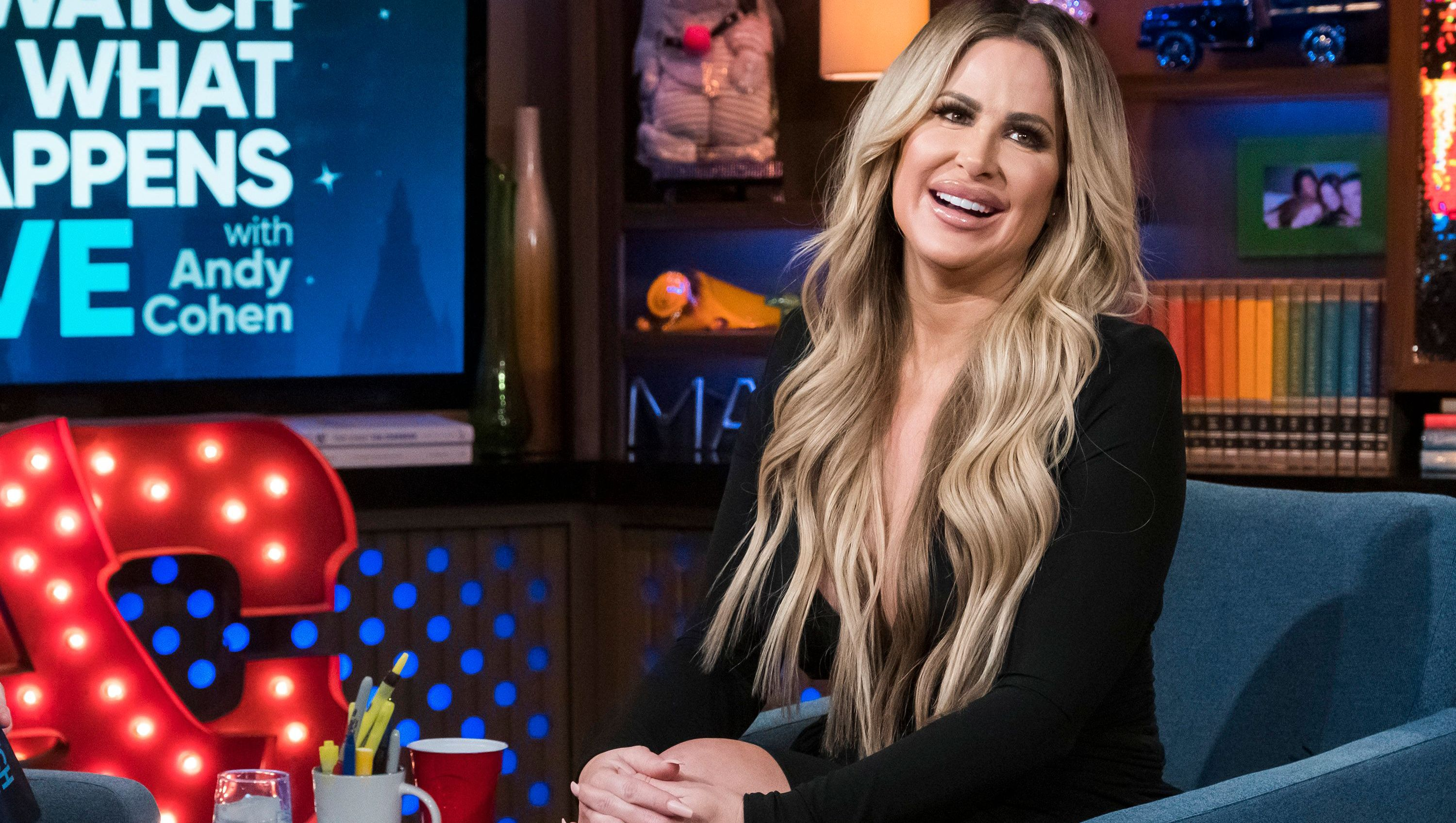Kim Zolciak is seen on 'Watch What Happens Live.'