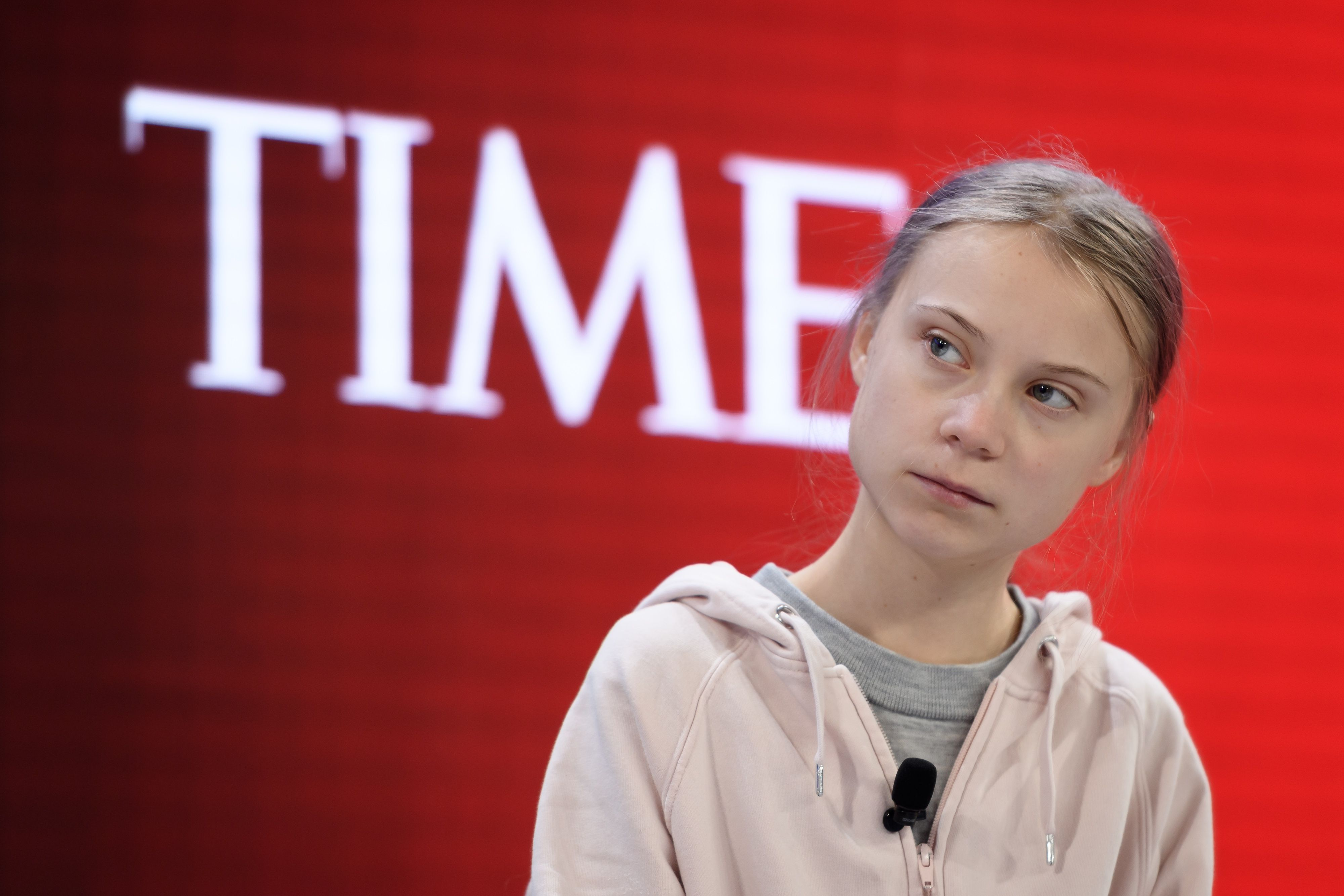Greta Thunberg at an event for Time Magazine