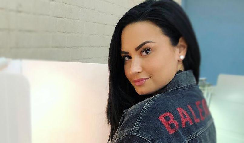 Demi Lovato at the voting polls in 2018