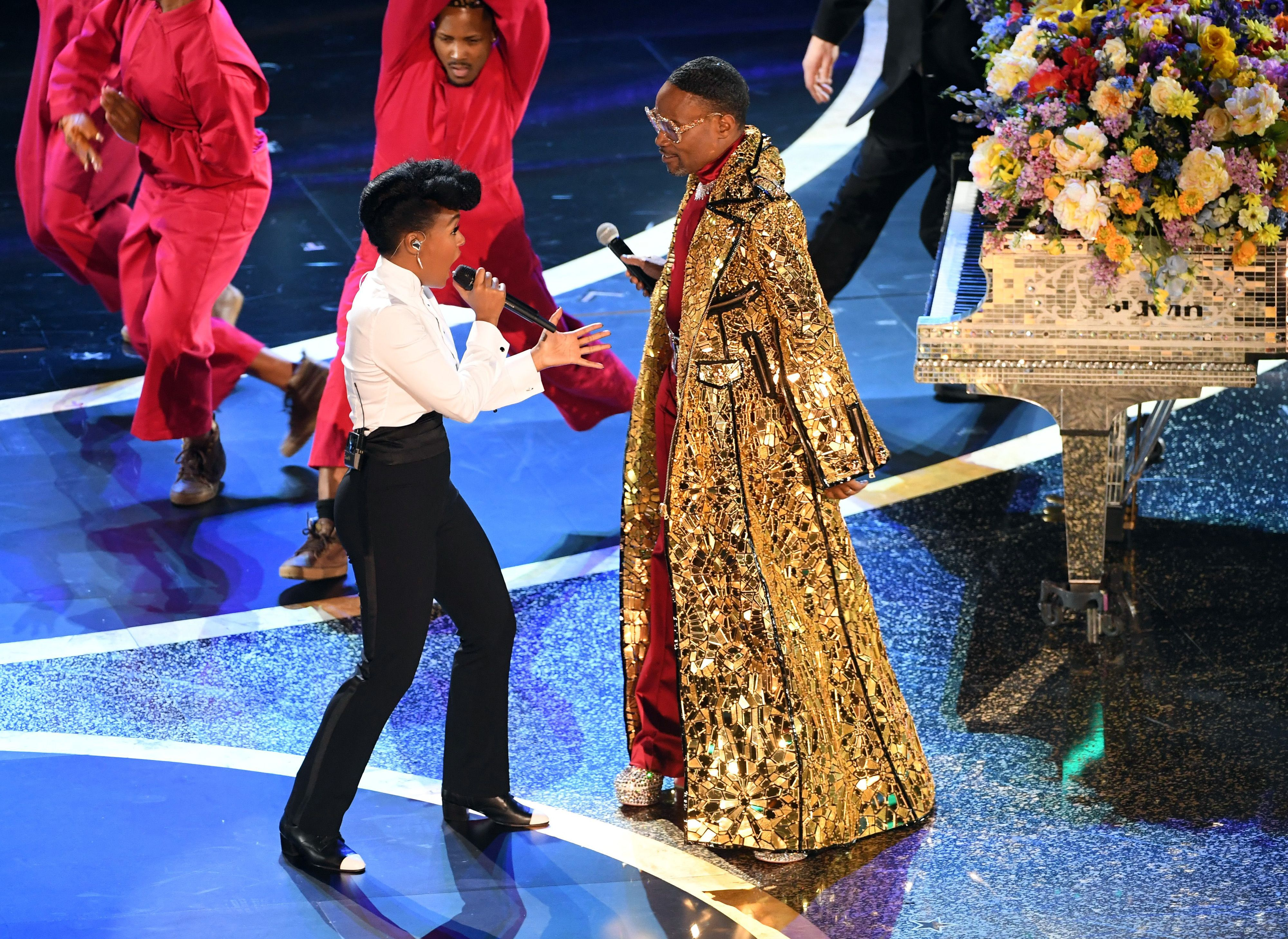 Janelle Monae and Billy Porter At Oscars 2020
