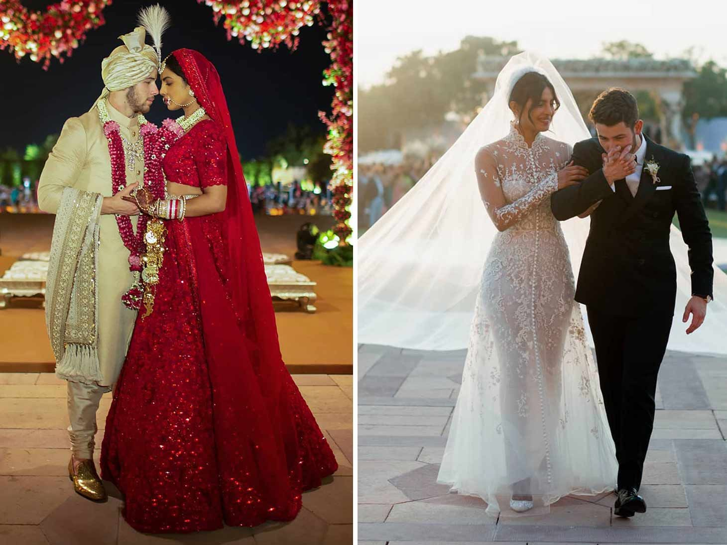 Nick Jonas Priyanka Chopra Share Wedding Looks From Both Hindu