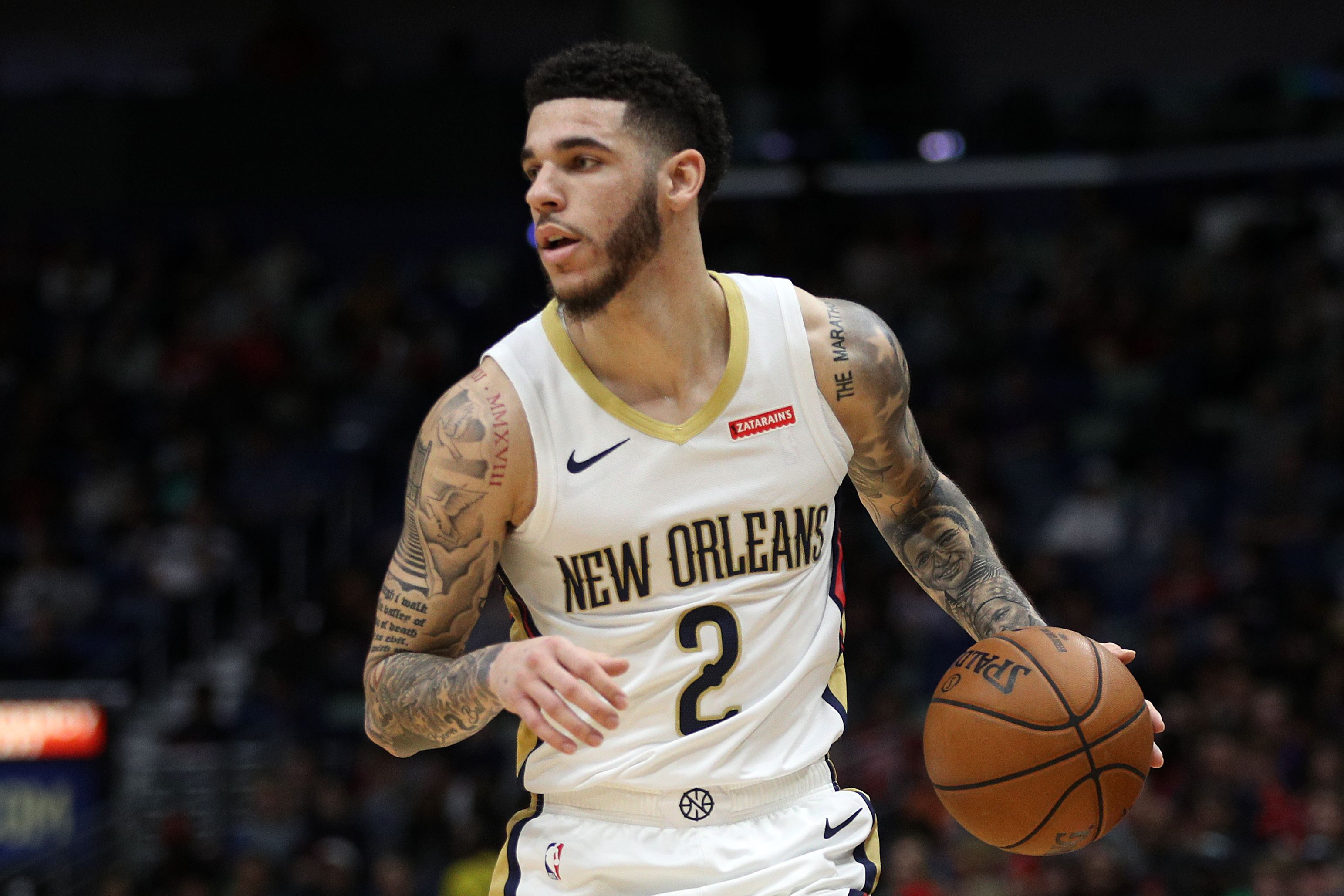Lonzo Ball making plays for the Pelicans