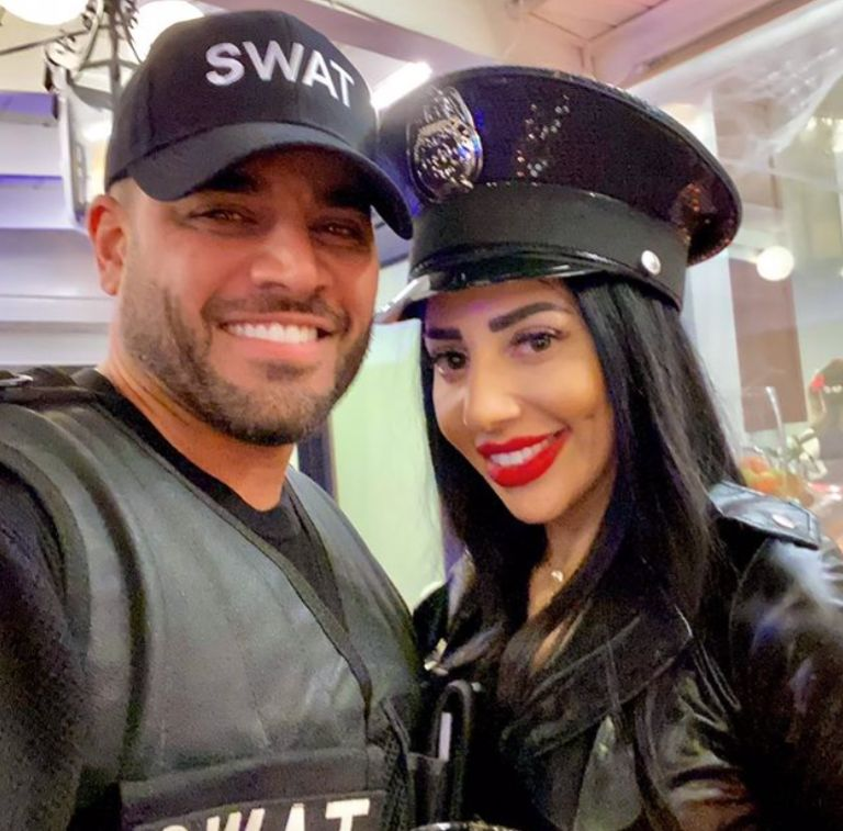 Mike Shouhed and Paulina Ben-Cohen dress up for Halloween.