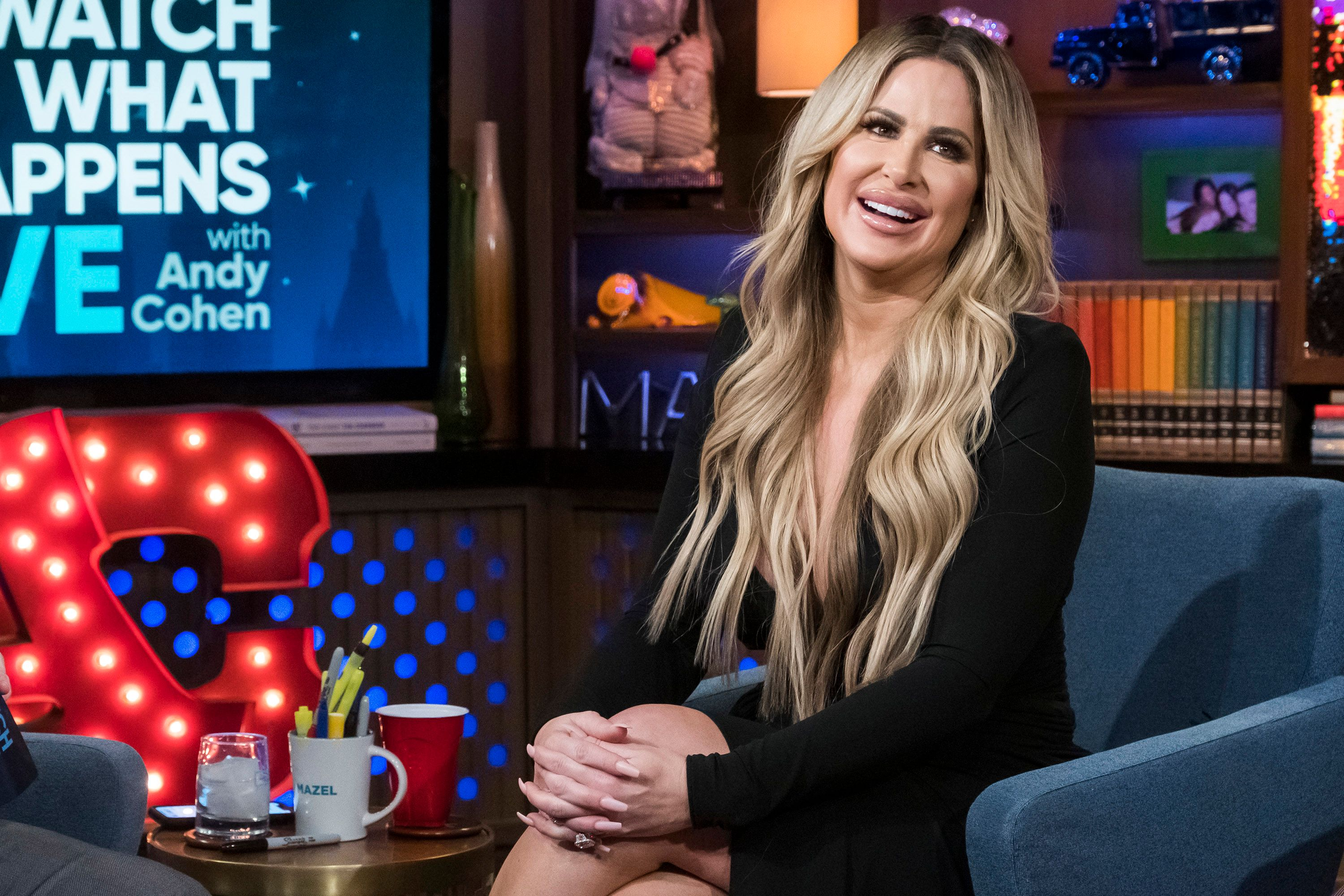 Kim Zolciak-Biermann while on 'Watch What Happens Live!'