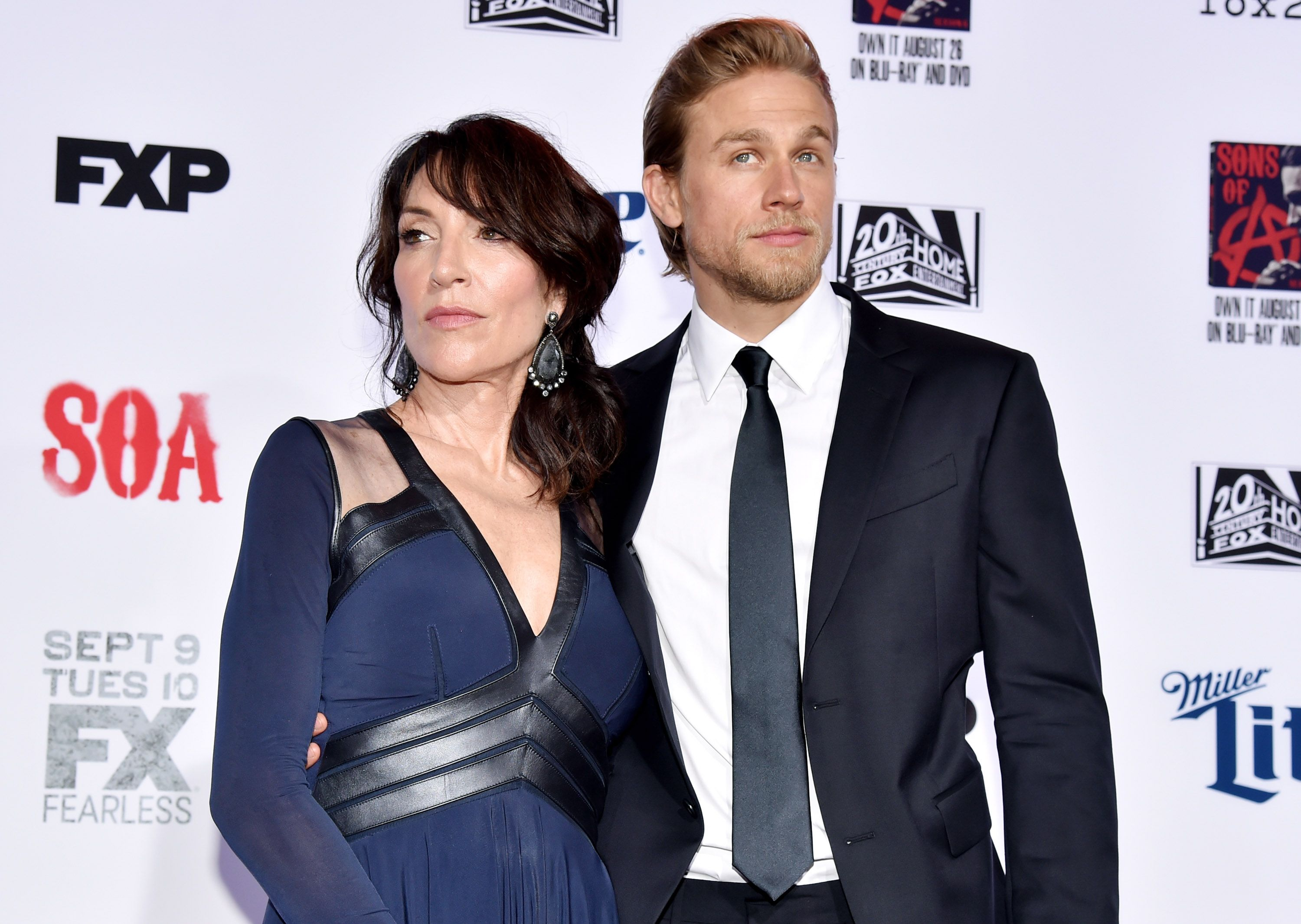 Katey Sagel and Charlie Hunnam