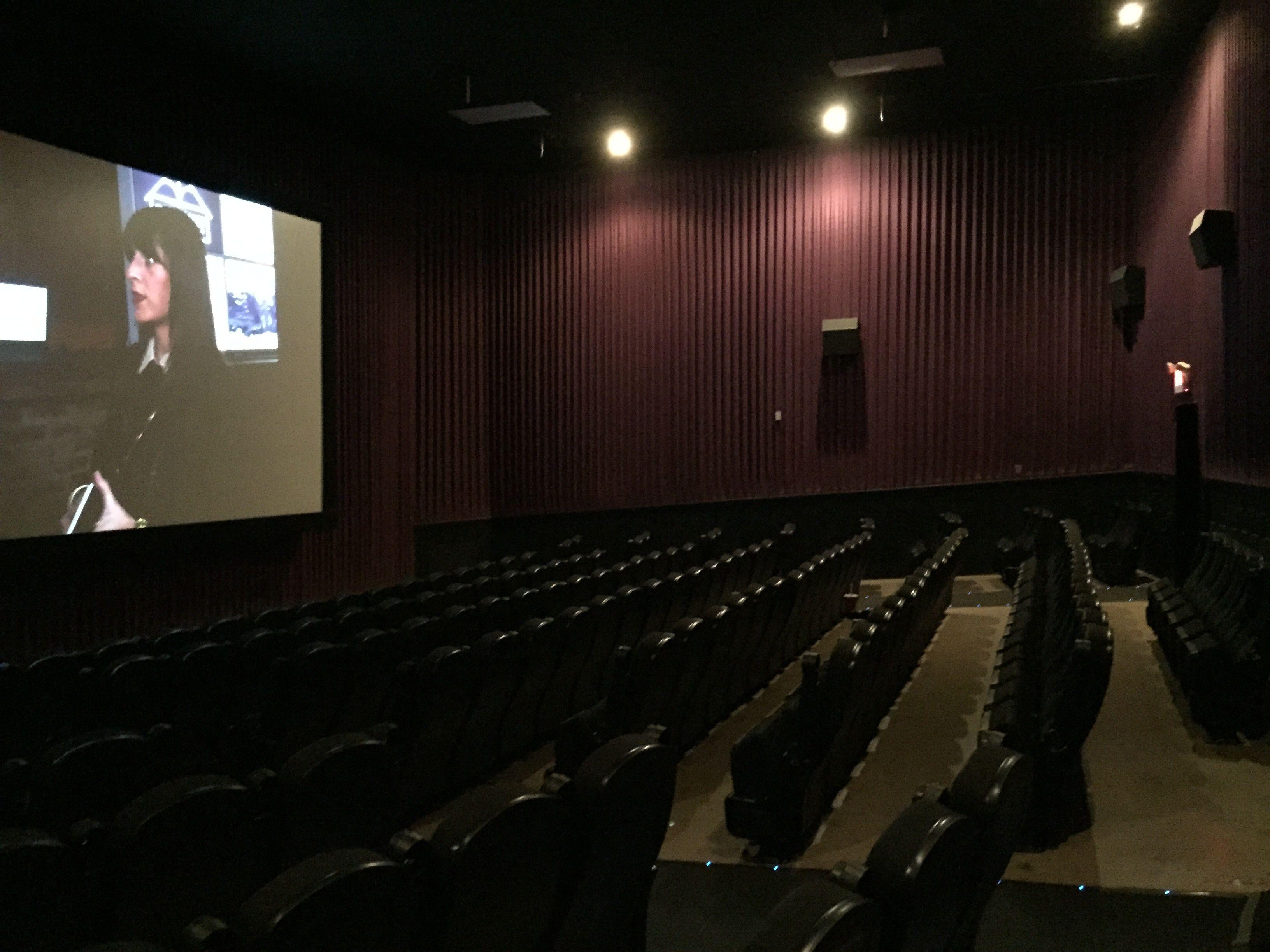 Empty seats at movie theater