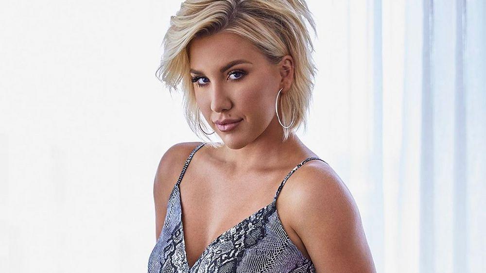 Savannah Chrisley in a snakeskin top