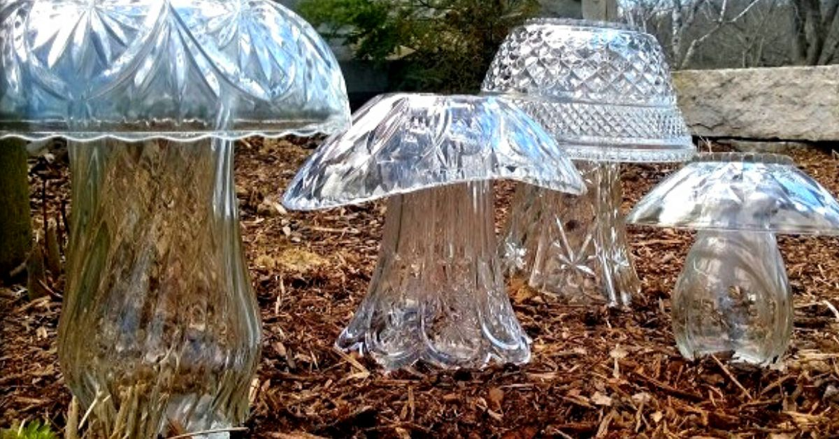 People Are Upcycling Old Glassware Into Stunning Glass Garden