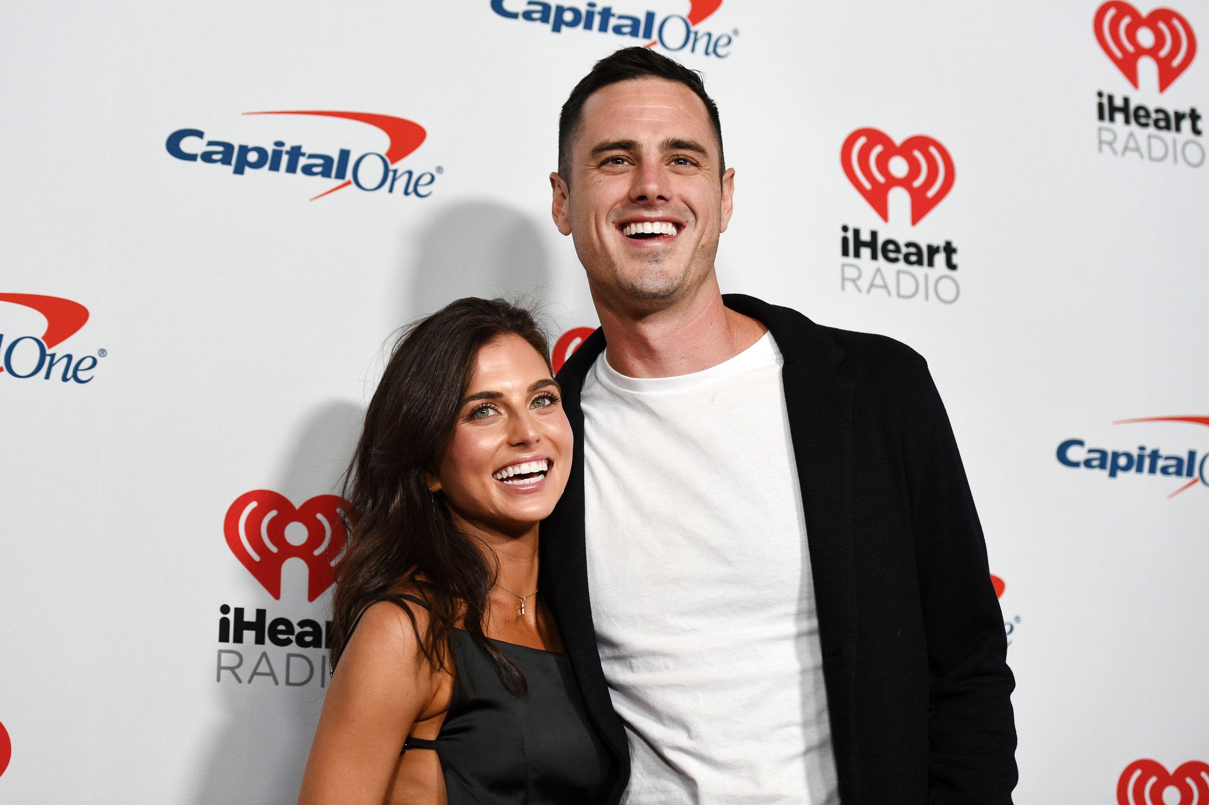 Ben Higgins with girlfriend Jess Clarke at an IHeart Radio event