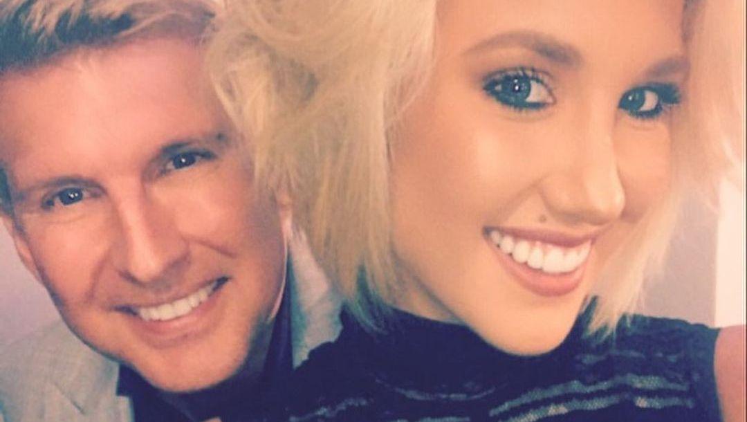 Savannah Chrisley and dad selfie
