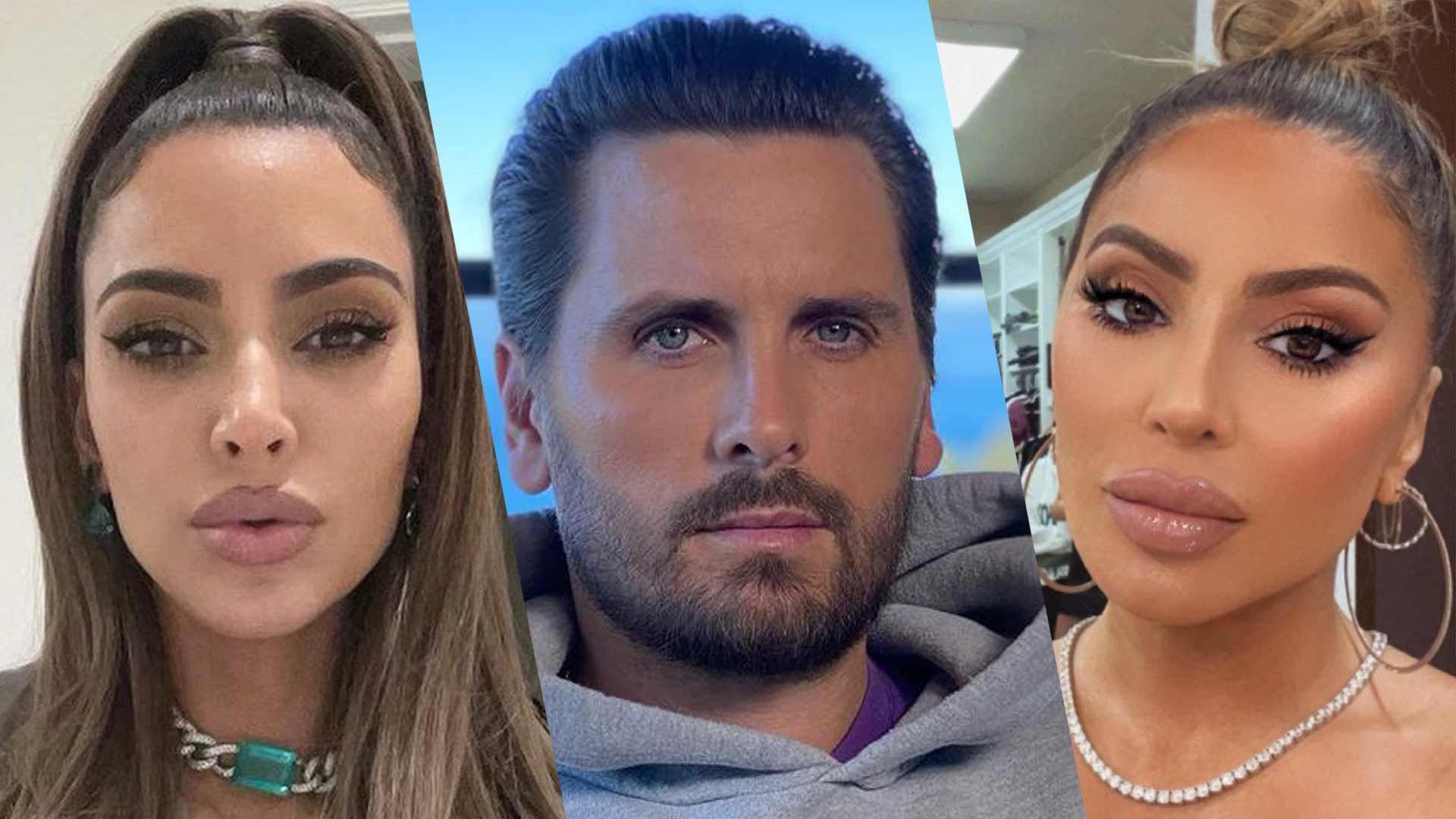Kim Kardashian, Scott Disick, and Larsa Pippen