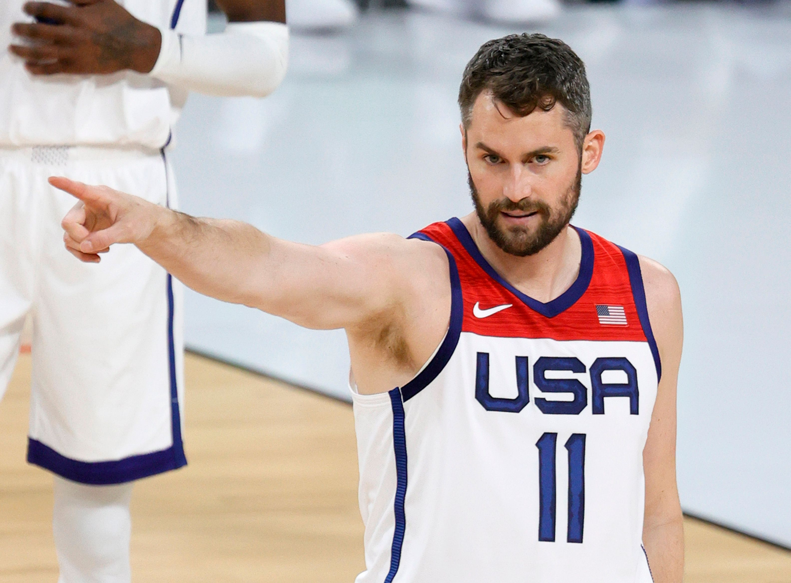 Kevin Love wearing the Team USA jersey