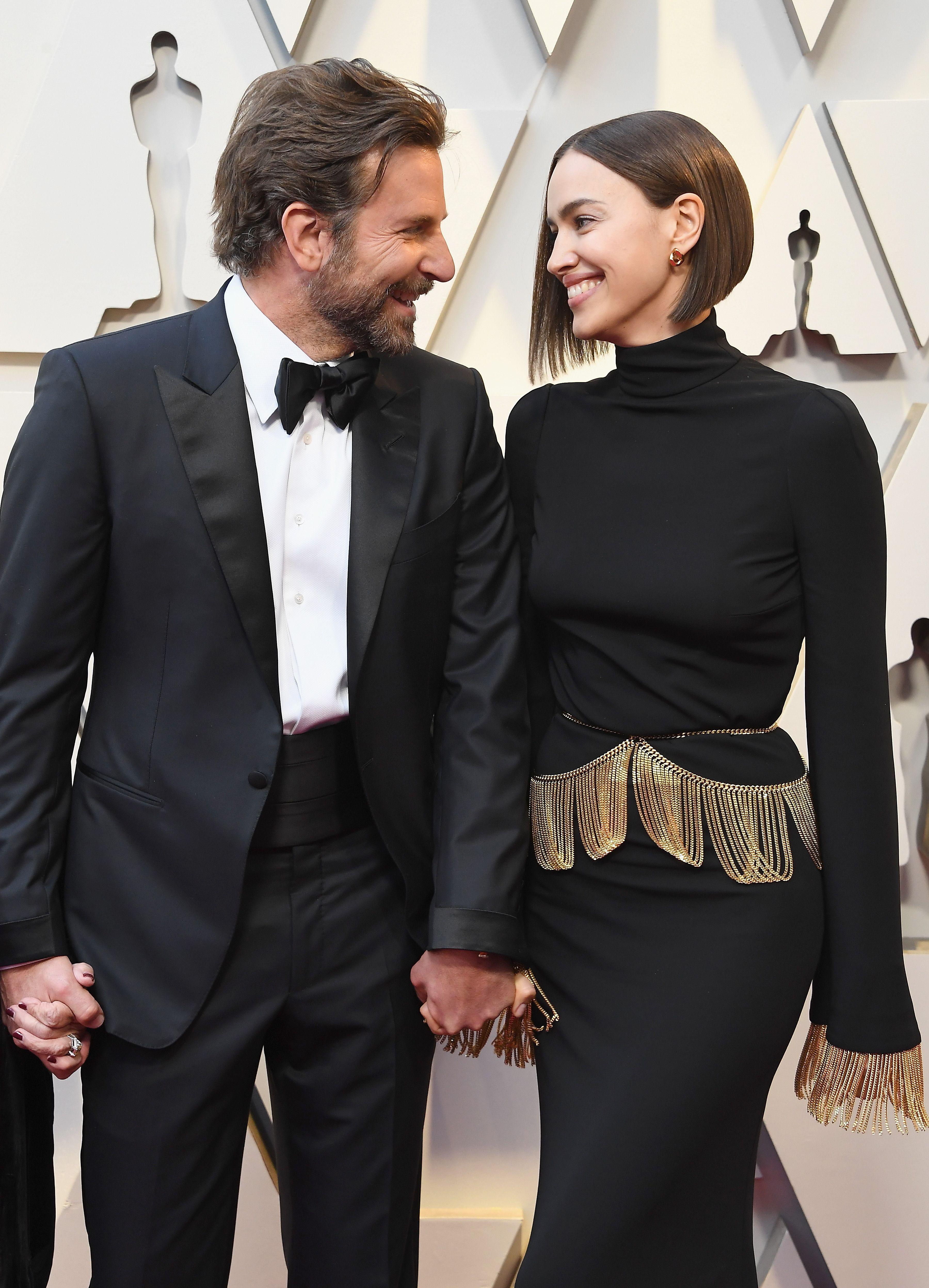 Bradley Cooper and ex Irina Shayk on the red carpet.
