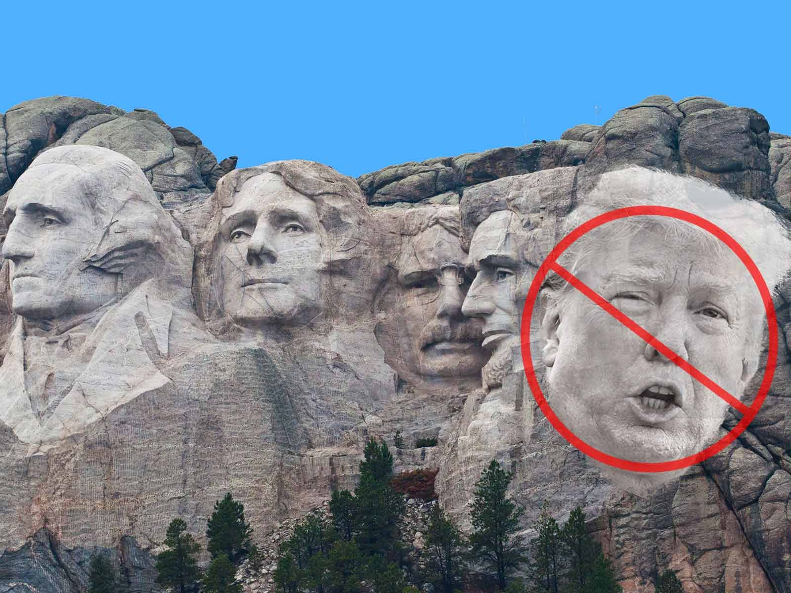 Mt. Rushmore Is Set in Stone ... No Chance of Donald Trump ...