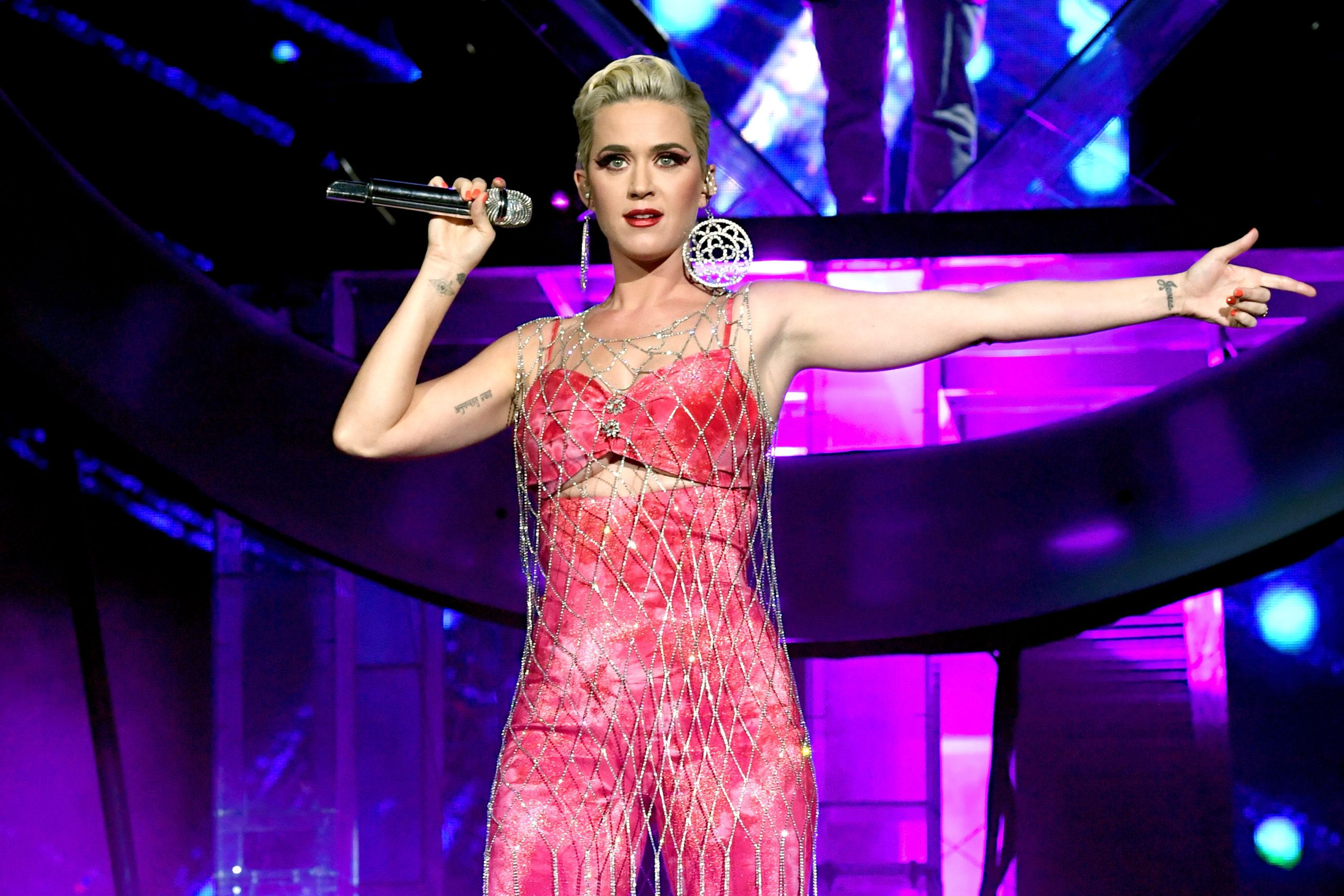Katy Perry Performing on stage.