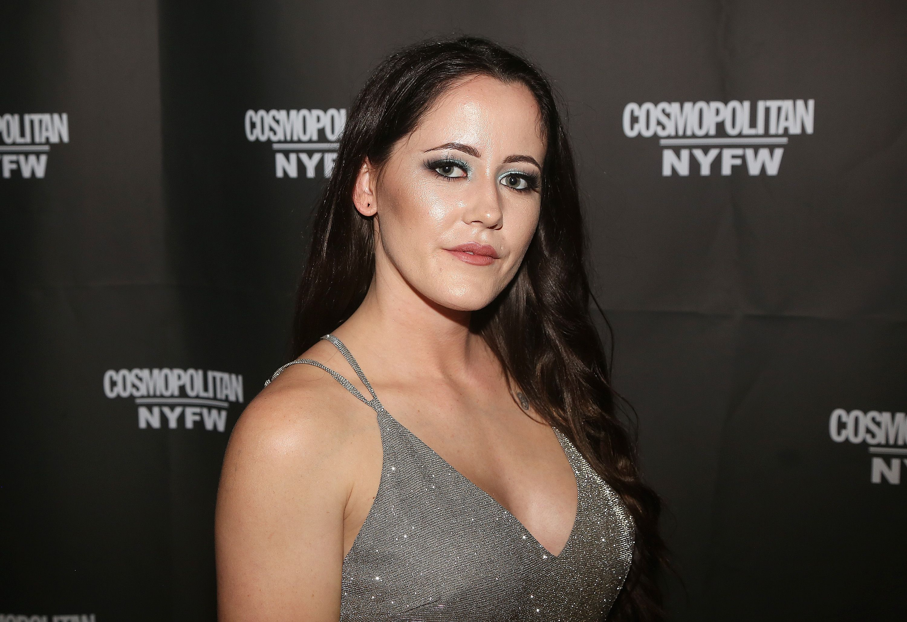 Jenelle Evans looks gorgeous in this shimmery outfit for a night event.