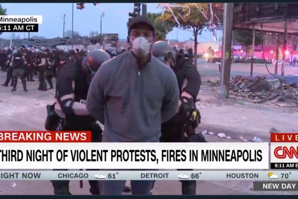 CNN news anchors were arrested by Minneapolis pol