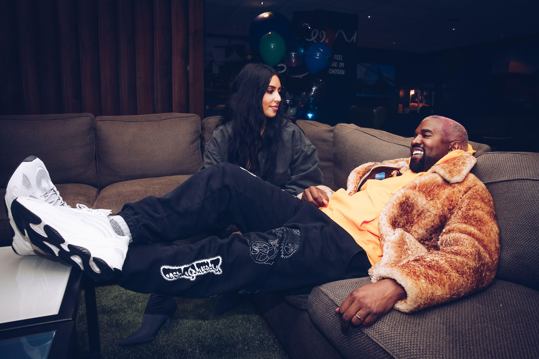 Kim Kardashan and Kanye West