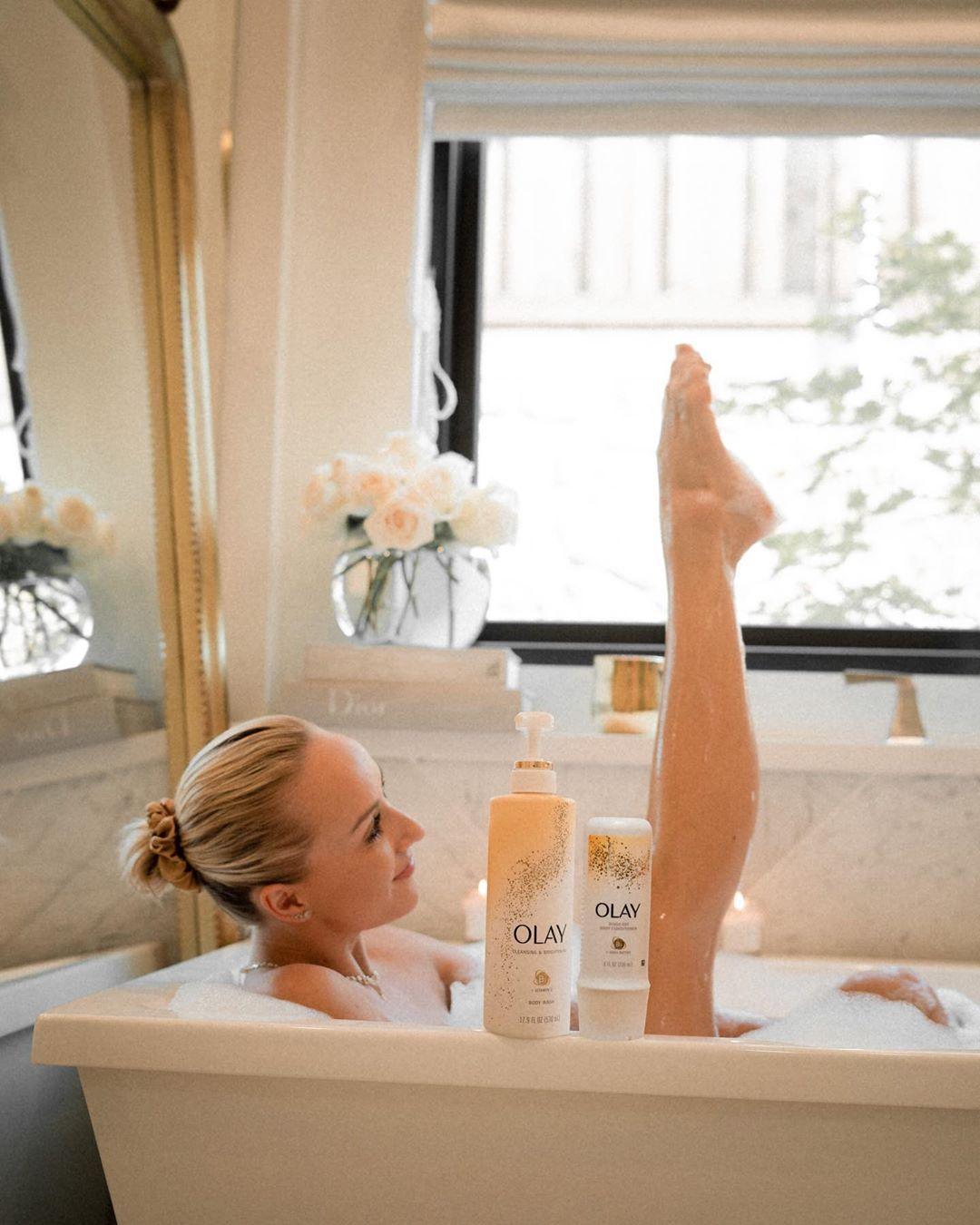 Nastia Liukin in a bath