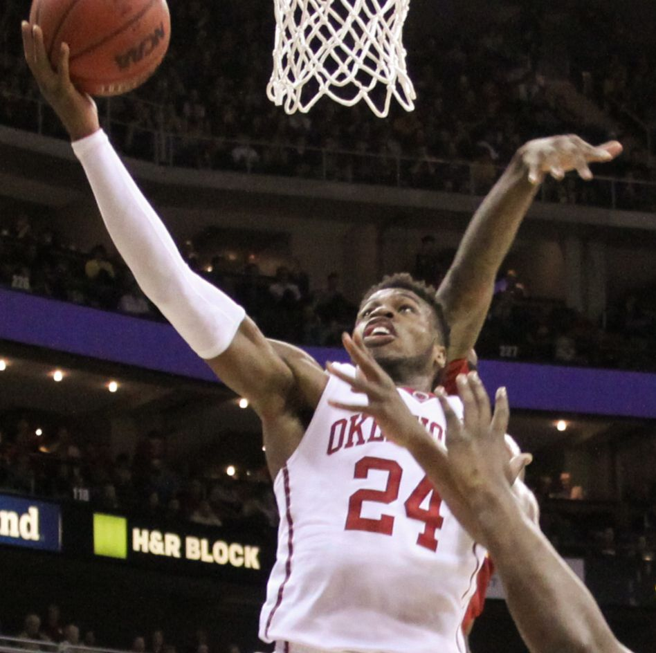 Buddy Hield lays up the ball
