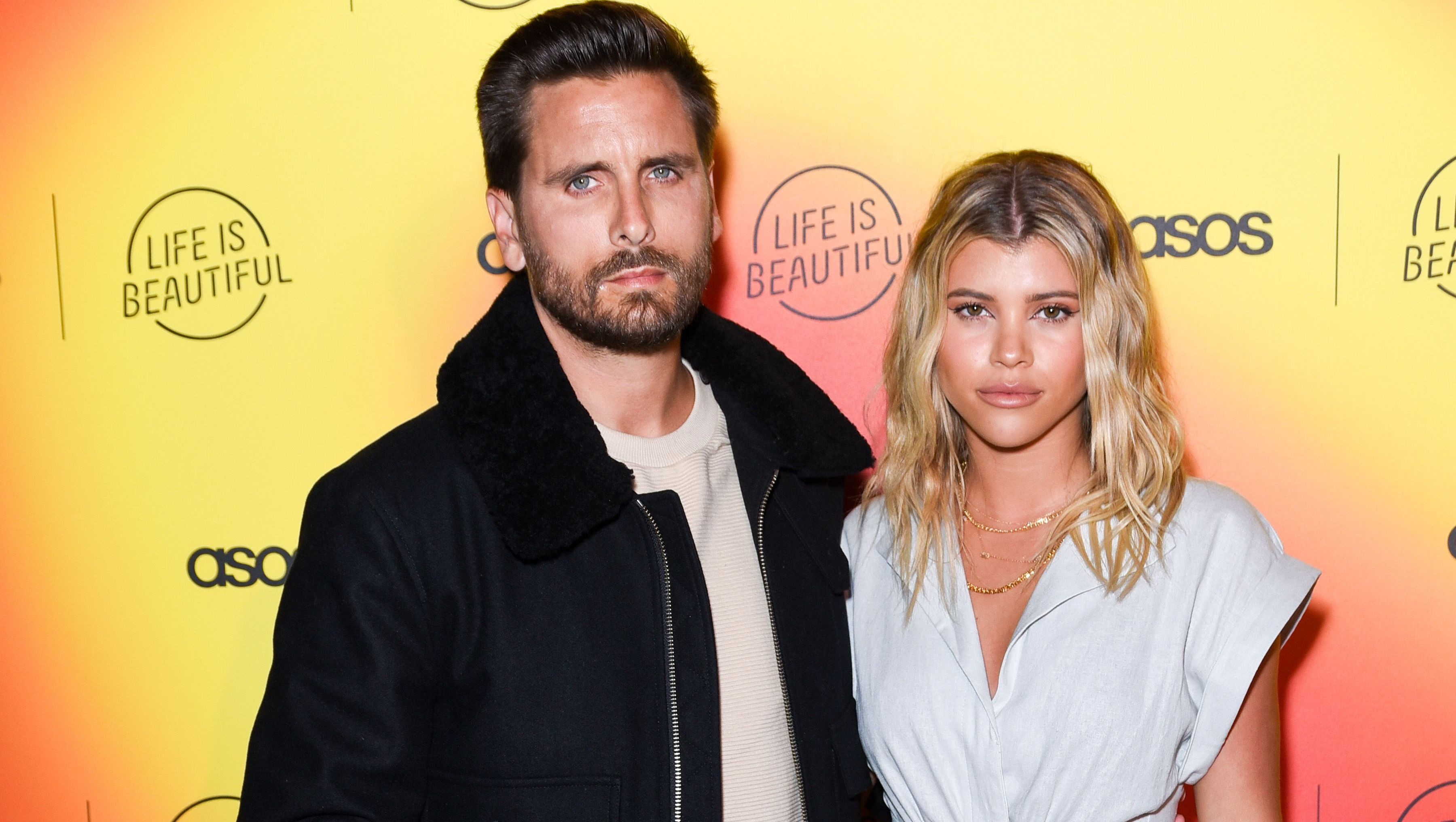Scott Disick and Sofia Richie attend an event hosted by Asos.