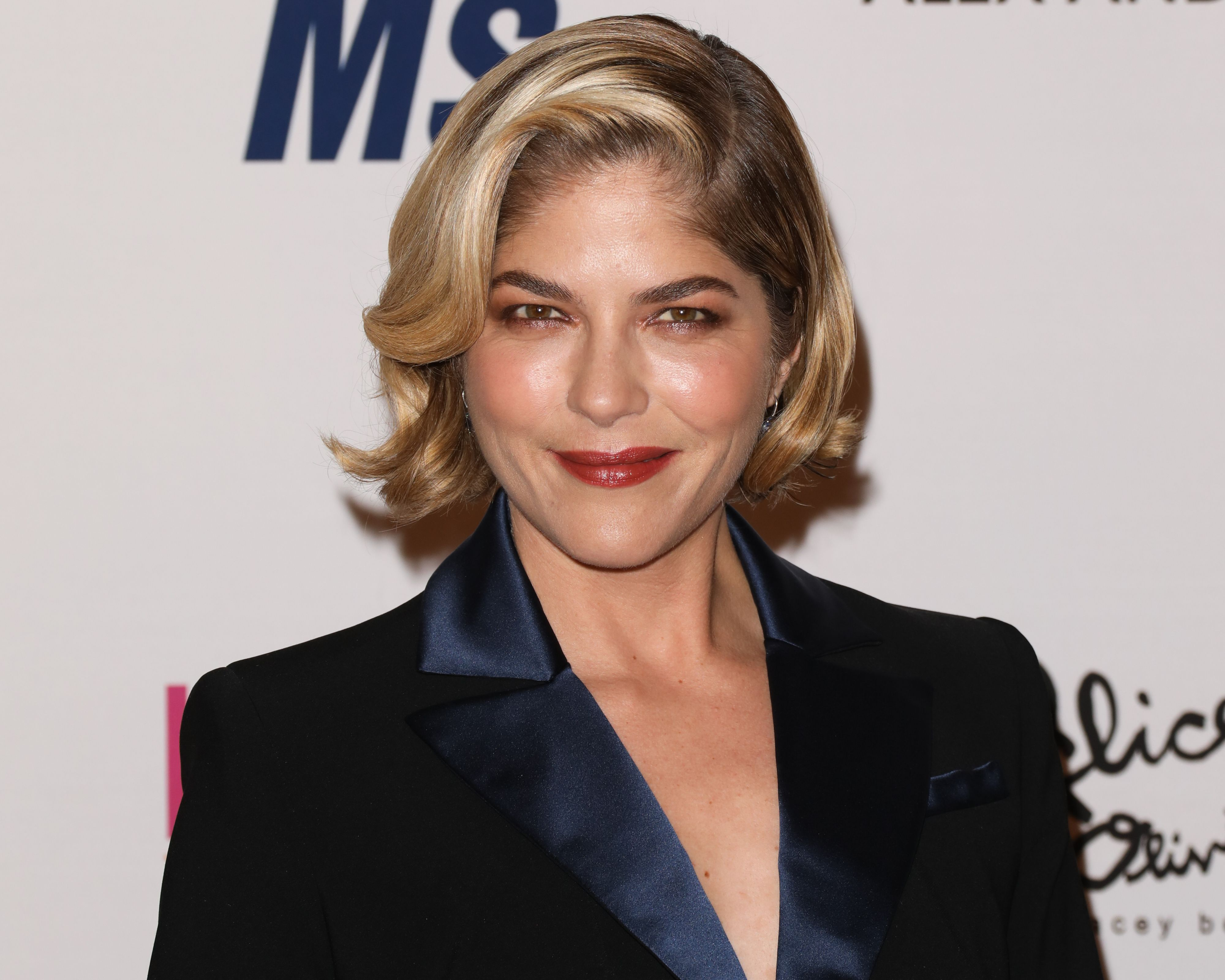 Selma Blair poses on the red carpet for an MS awareness event