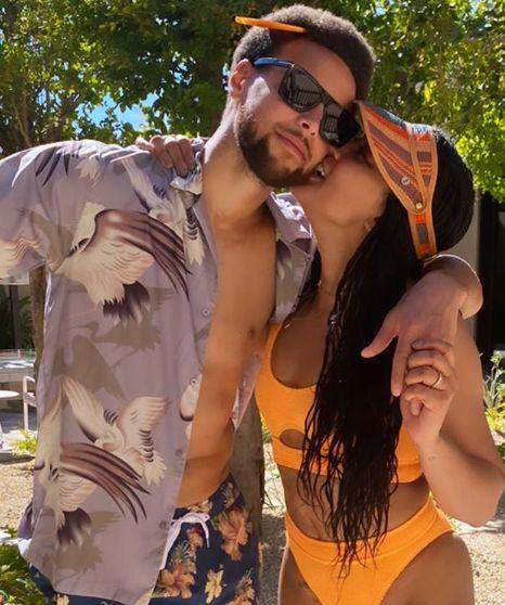 Ayesha Curry Wows In Orange Bikini On Beach Vacation With Steph